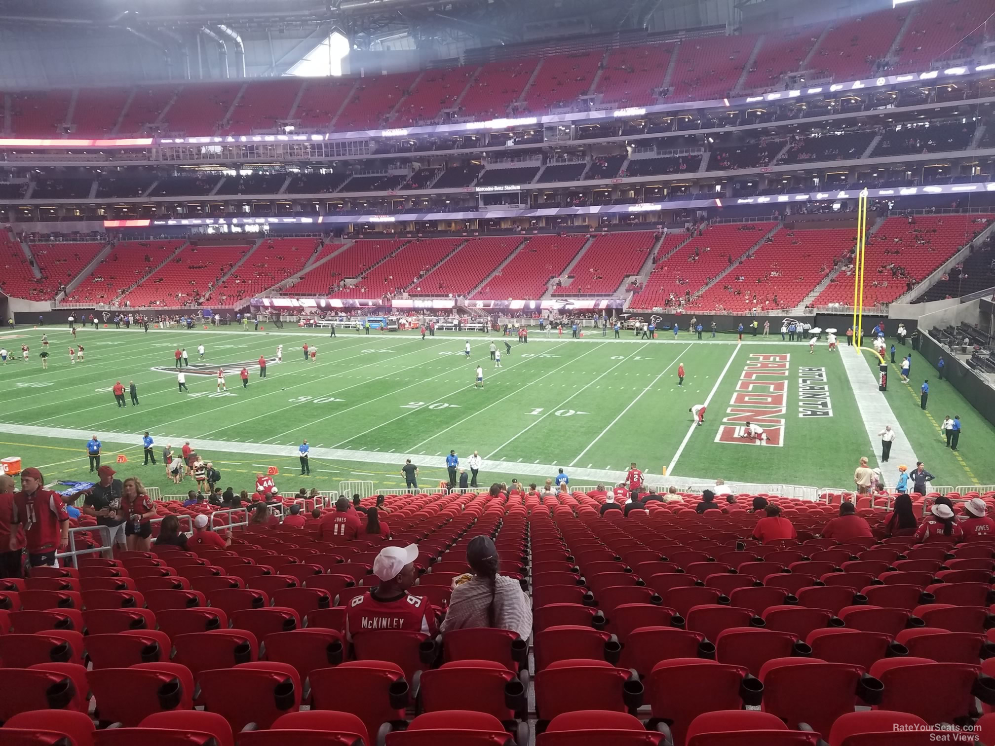 Mercedes Benz Stadium Section 106 Atlanta Falcons