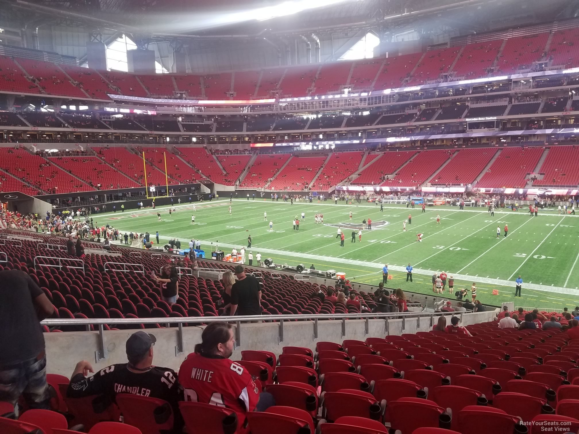 Mercedes Benz Stadium Section 107 Atlanta Falcons