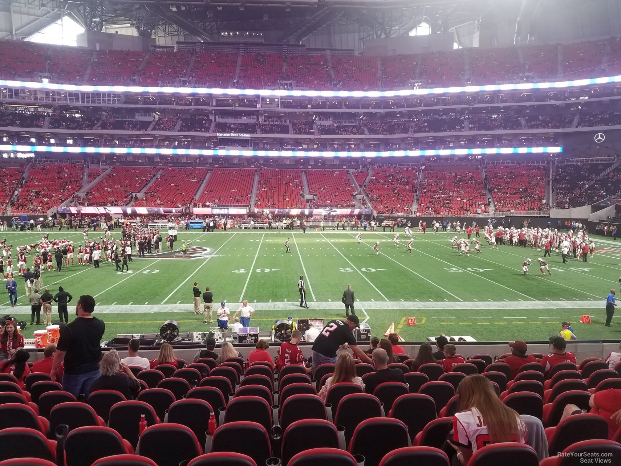 Mercedes Benz Stadium Club 109 Atlanta Falcons