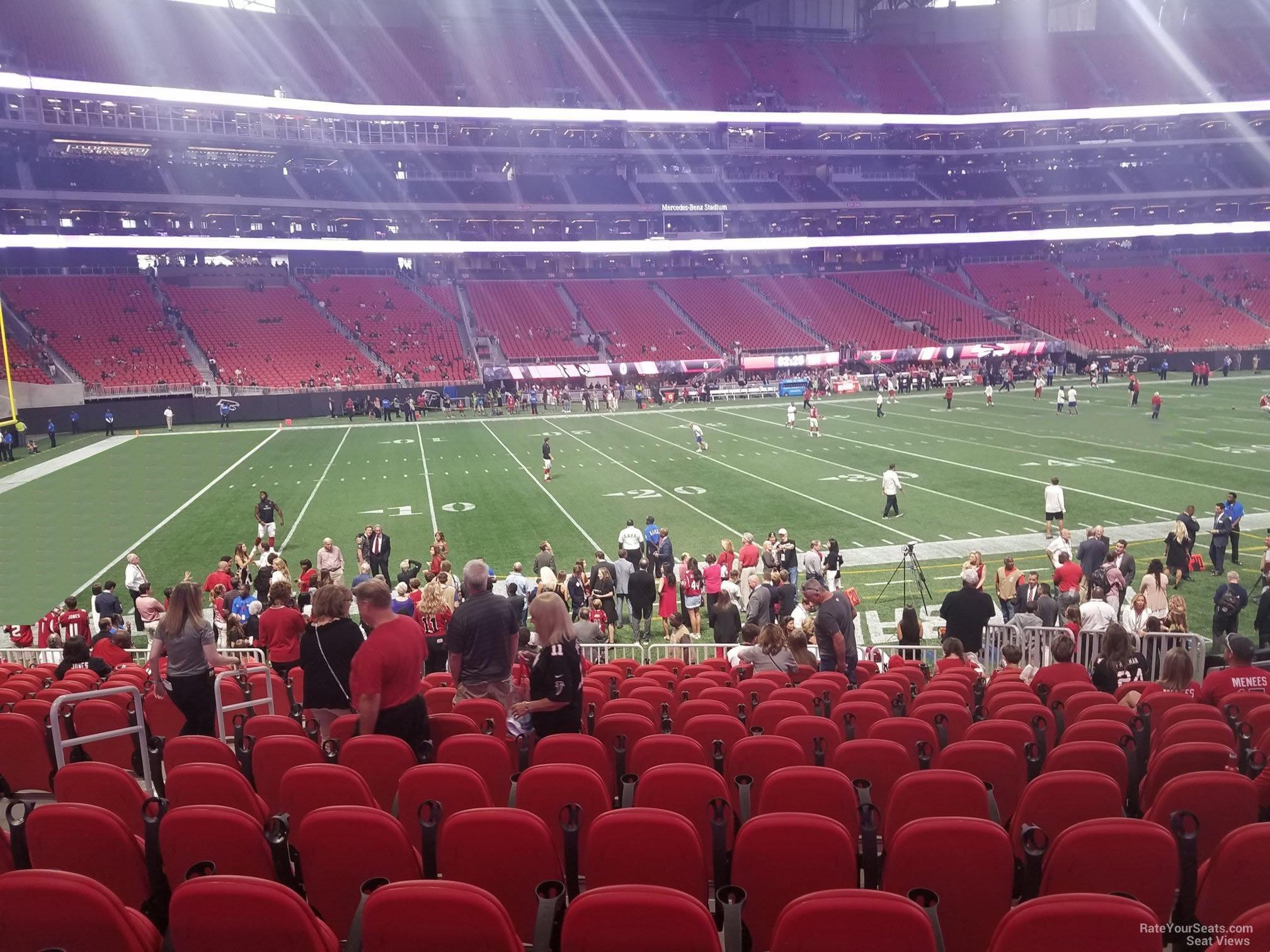 Mercedes Benz Stadium Section 113 Atlanta Falcons