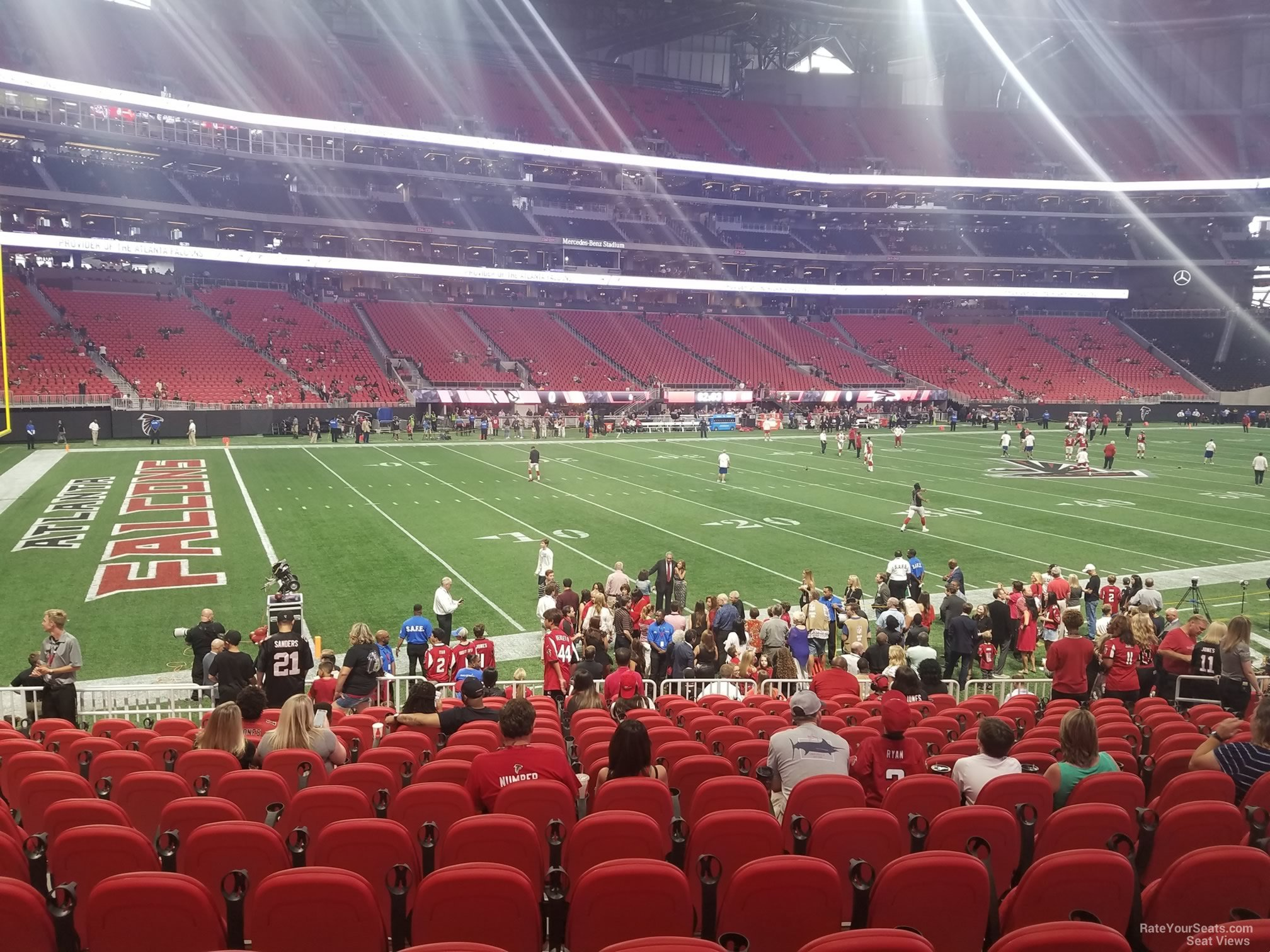 Mercedes benz stadium section 114 atlanta falcons for Atlanta ga mercedes benz stadium