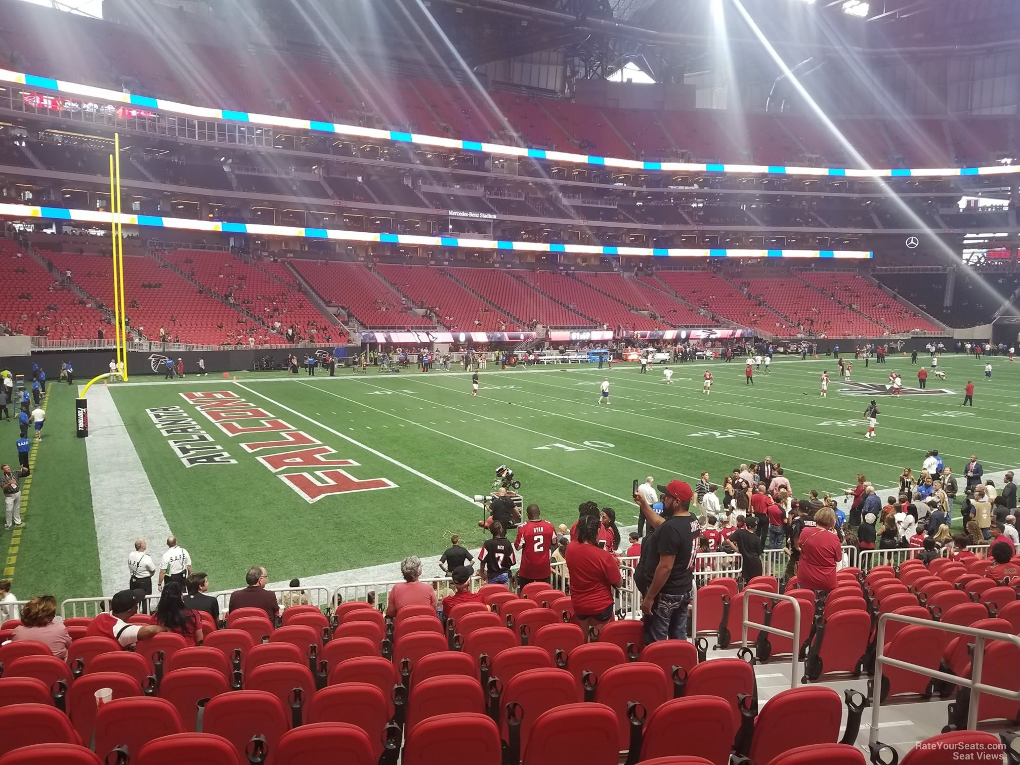 mercedes benz stadium section 115 atlanta falcons