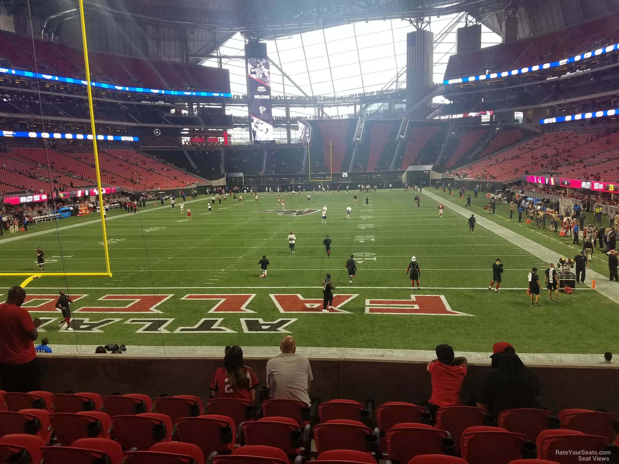 Mercedes benz stadium section 118 atlanta falcons for Mercedes benz stadium season tickets