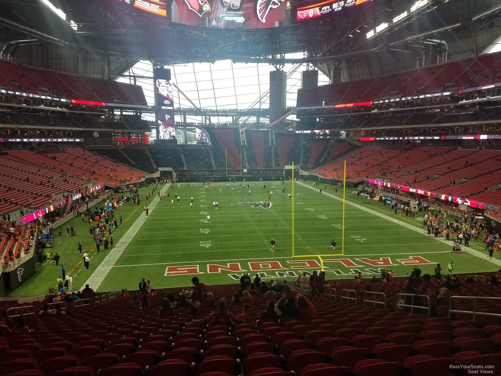 Mercedes Benz Stadium Section 120 Atlanta Falcons
