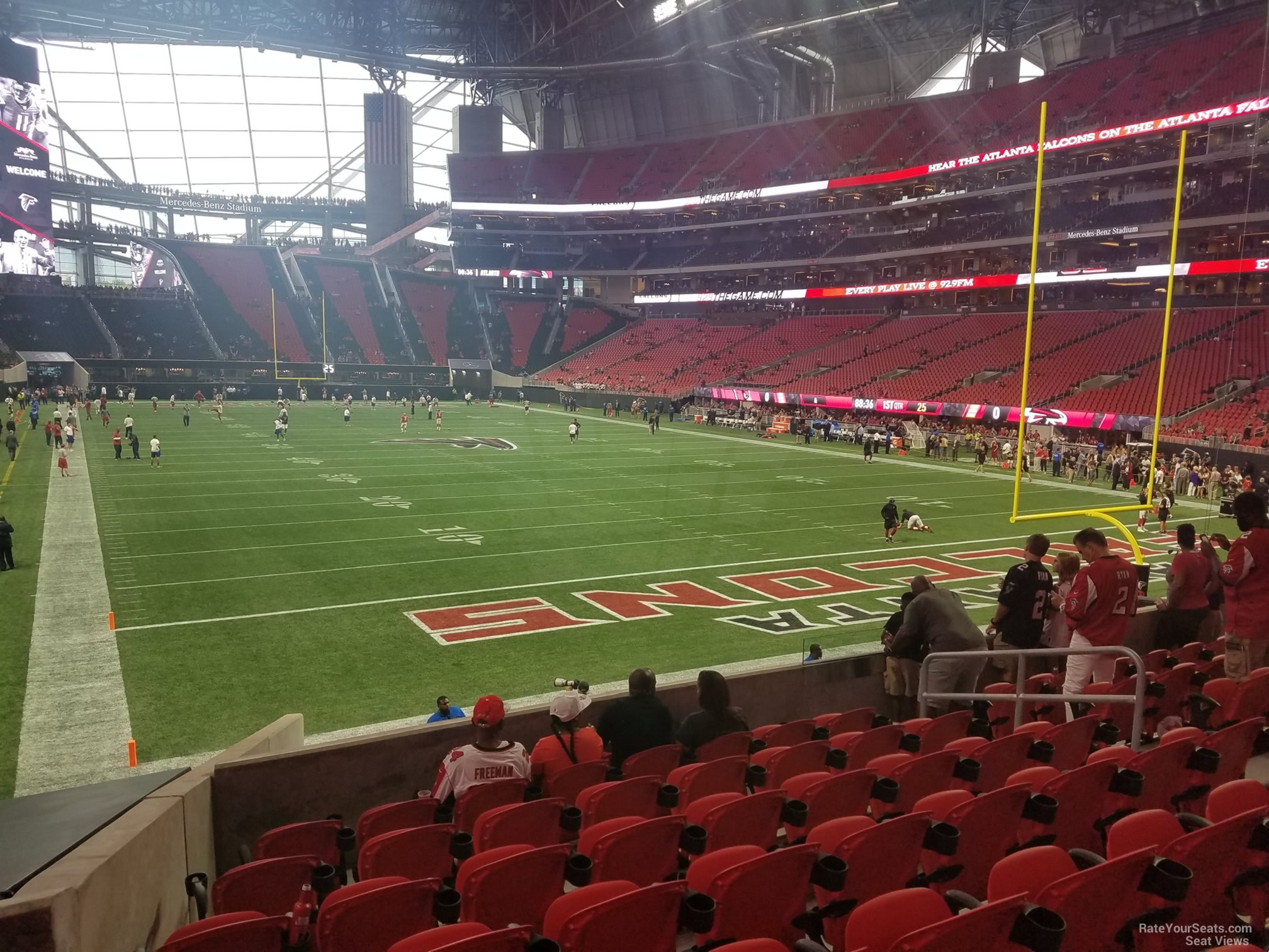 Mercedes Benz Stadium Section 121 Atlanta Falcons