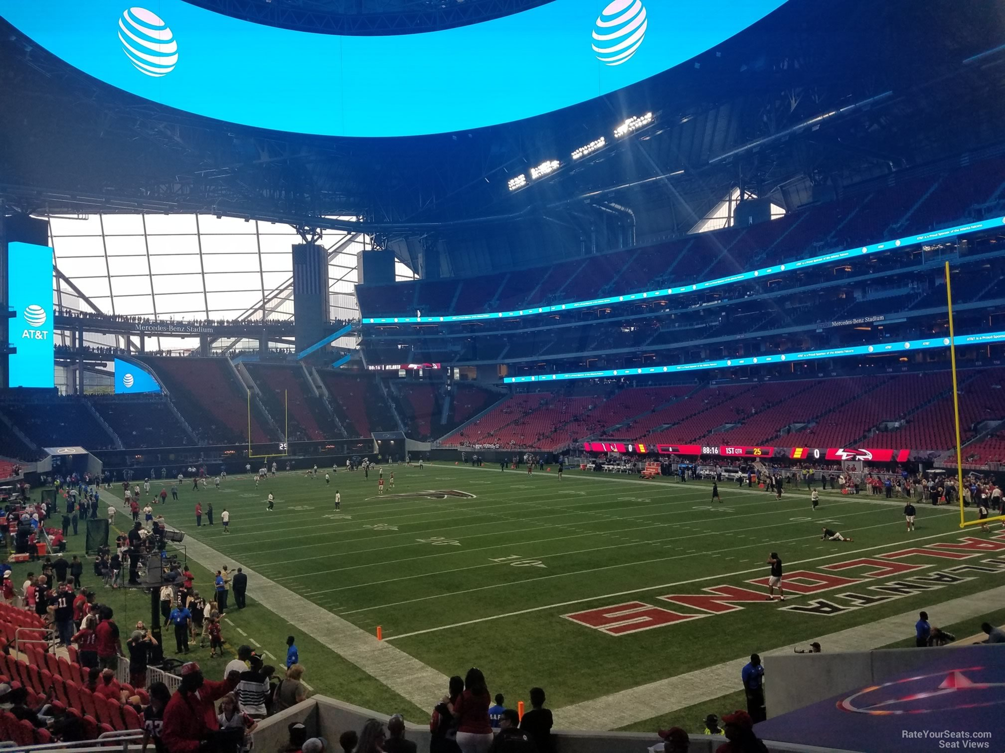 Mercedes benz stadium section 122 atlanta falcons for Mercedes benz seat view