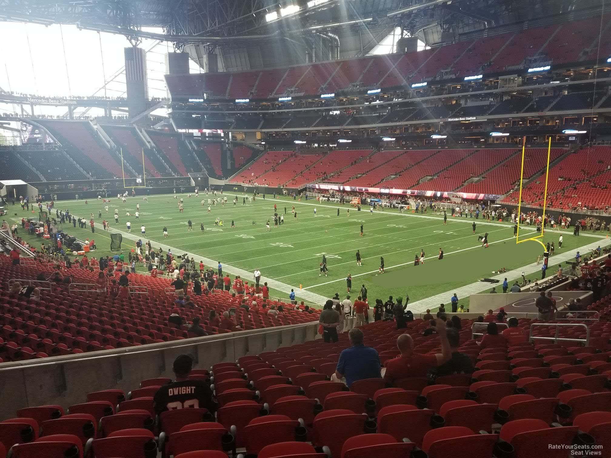 Mercedes Benz Stadium Section 122 Atlanta Falcons