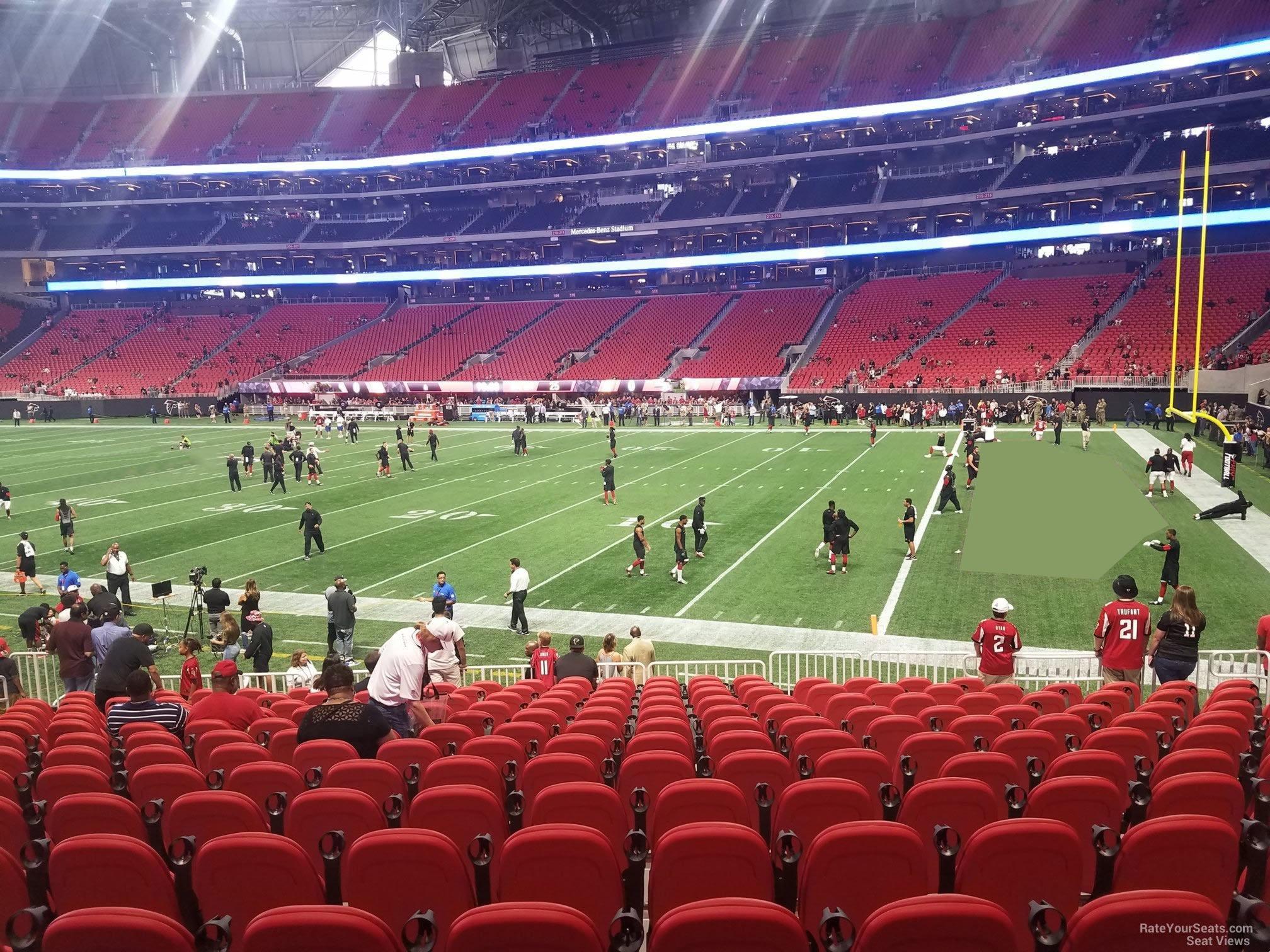 Mercedes Benz Stadium Section 124 Atlanta Falcons