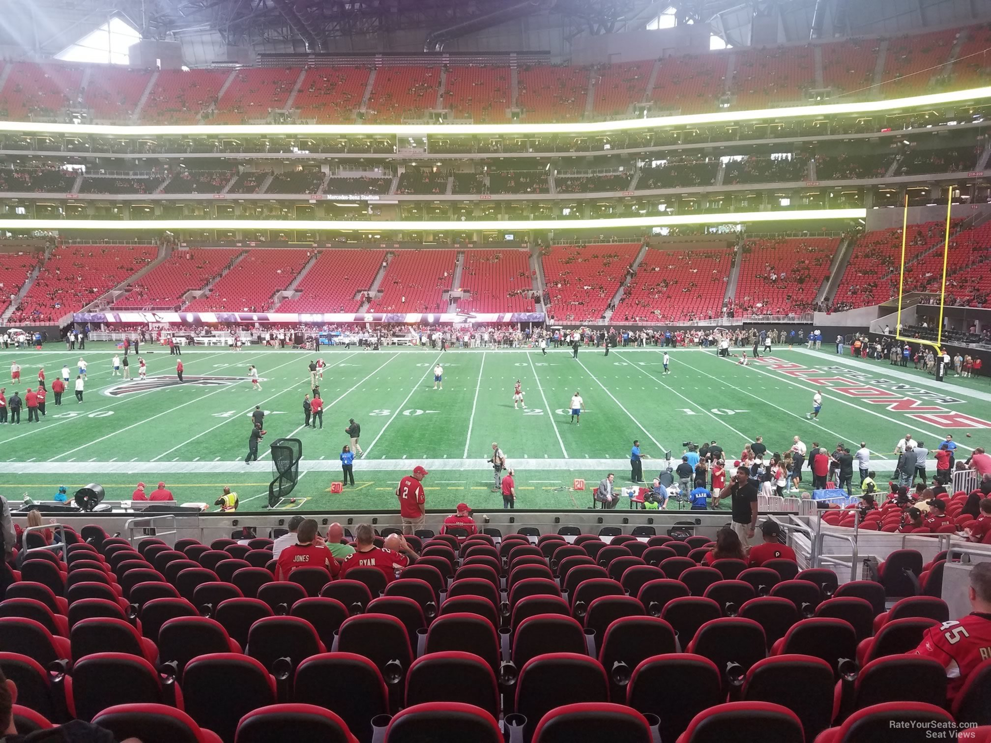Mercedes Benz Stadium Club 126 Atlanta Falcons
