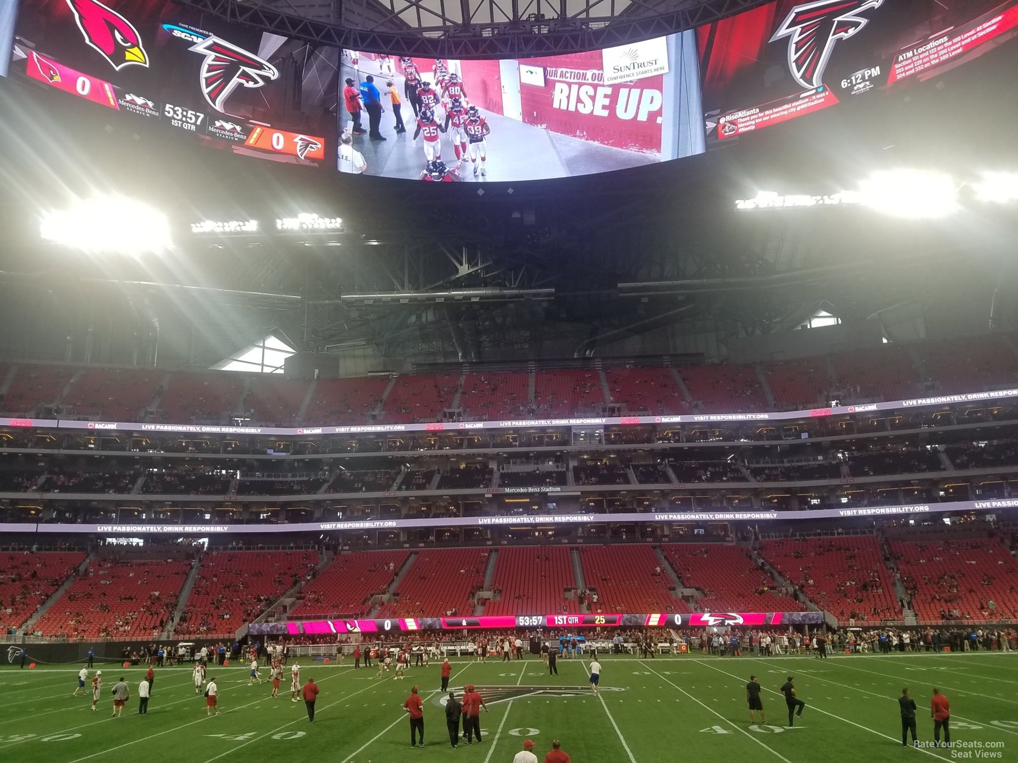 100 atlanta falcons seating chart mercedes football for Mercedes benz stadium seats for sale