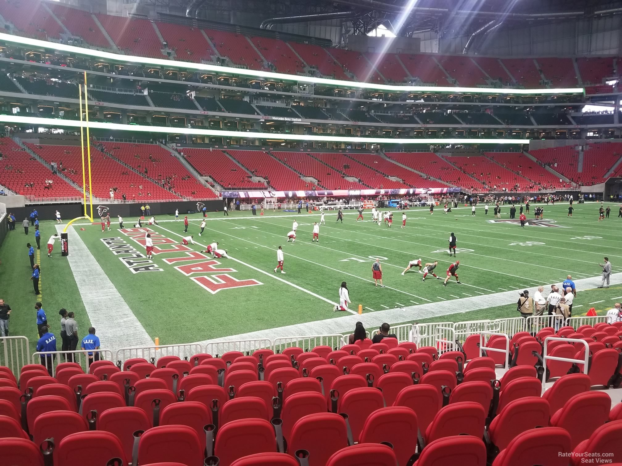 mercedes benz stadium section 133 atlanta falcons