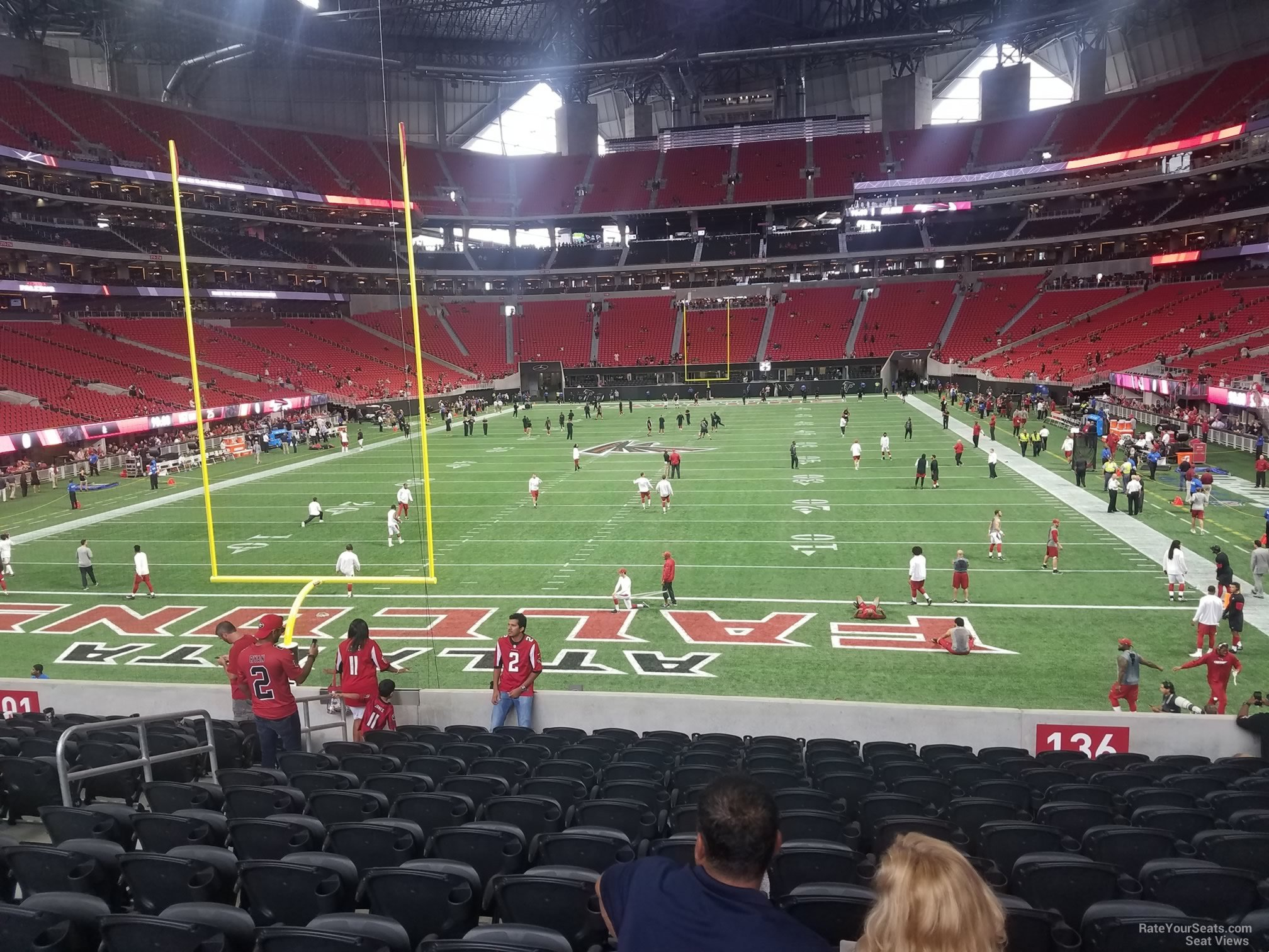 Atlanta falcons seating chart with rows best seat 2018 for Mercedes benz dome atlanta seating chart