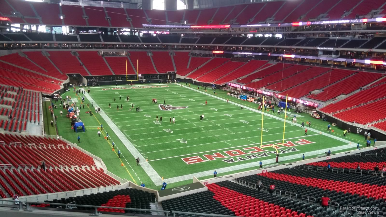 Mercedes benz stadium section 201 atlanta falcons for Mercedes benz stadium season tickets