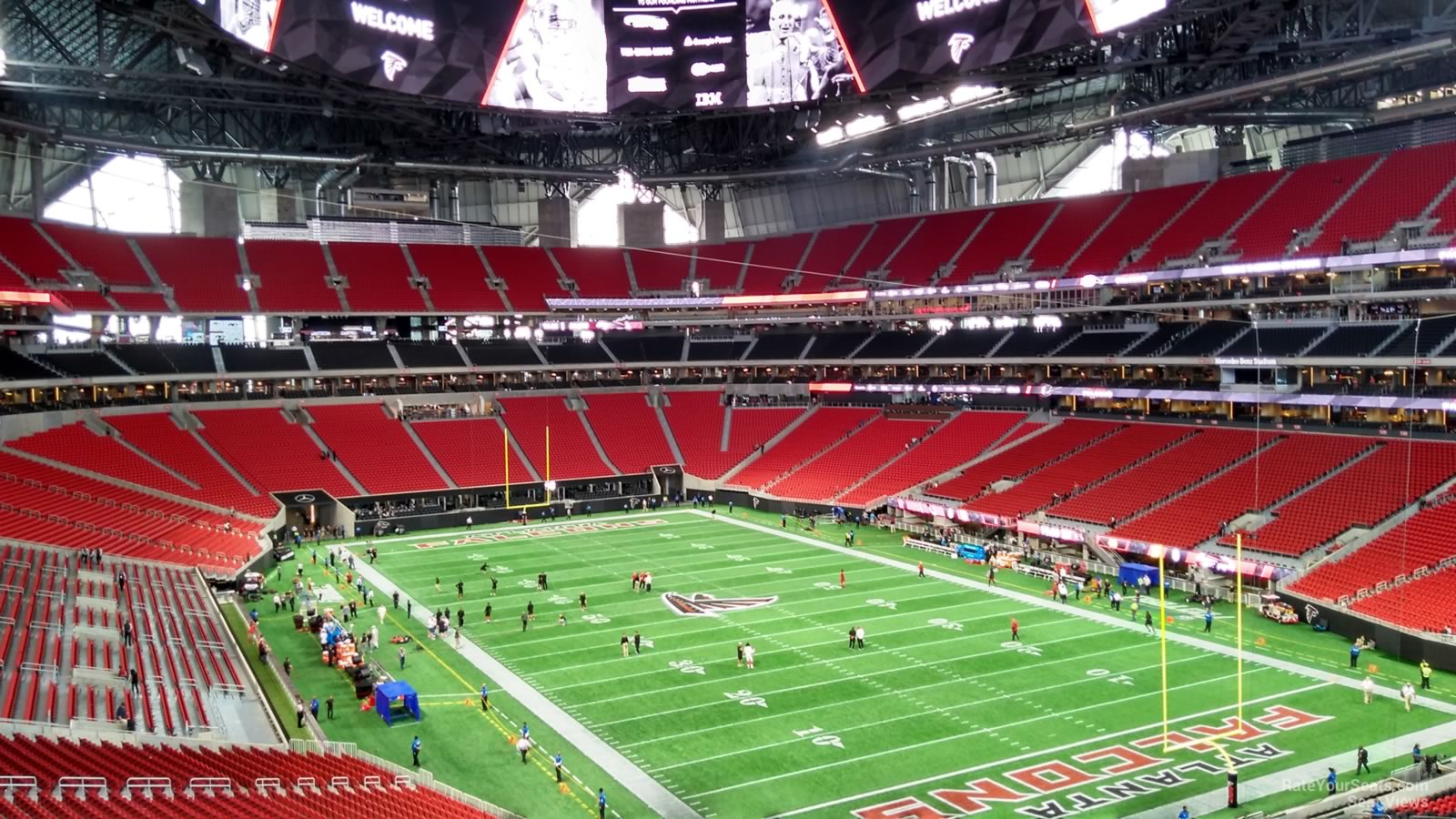 Mercedes benz stadium section 202 atlanta falcons for Mercedes benz seat view