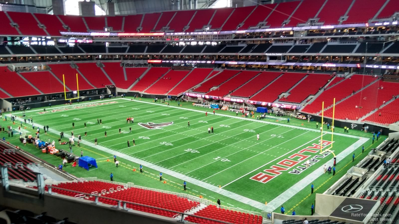 Mercedes benz stadium section 204 atlanta falcons for Mercedes benz stadium price