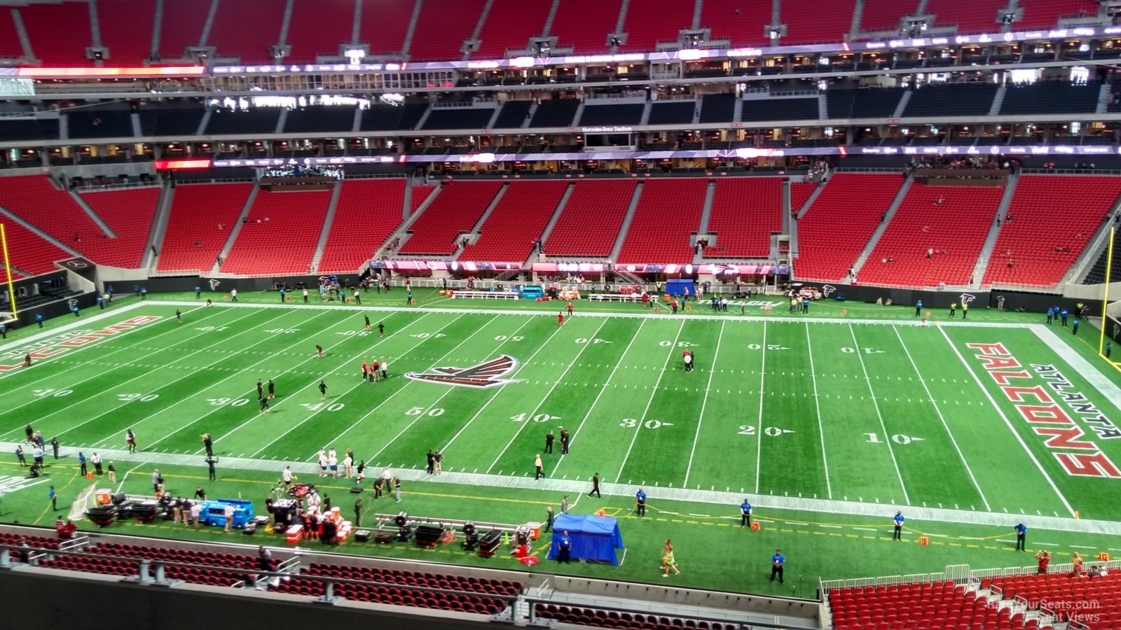 Mercedes benz stadium section 208 atlanta falcons for Mercedes benz seat view