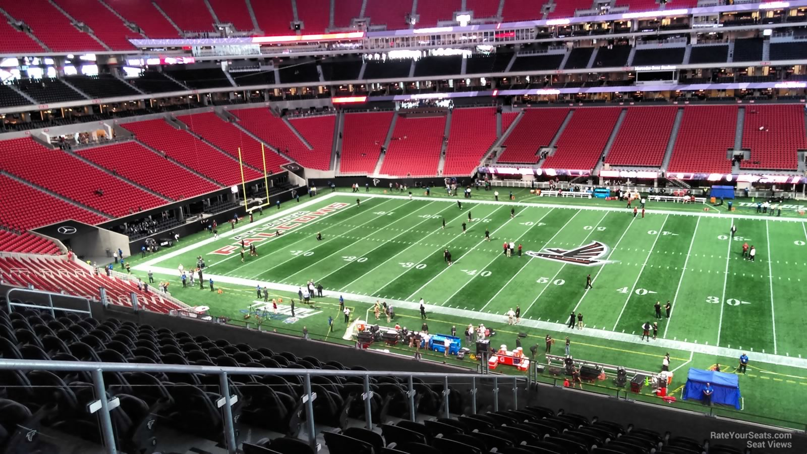 Atlanta Falcons Seat View for Mercedes-Benz Stadium Section 209, Row 12