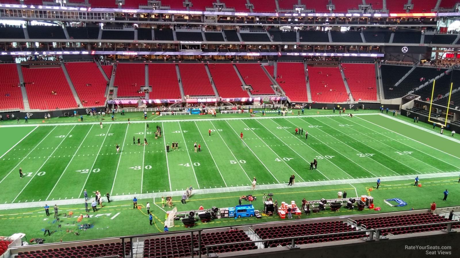 Atlanta Falcons Seat View For Mercedes Benz Stadium Club 212