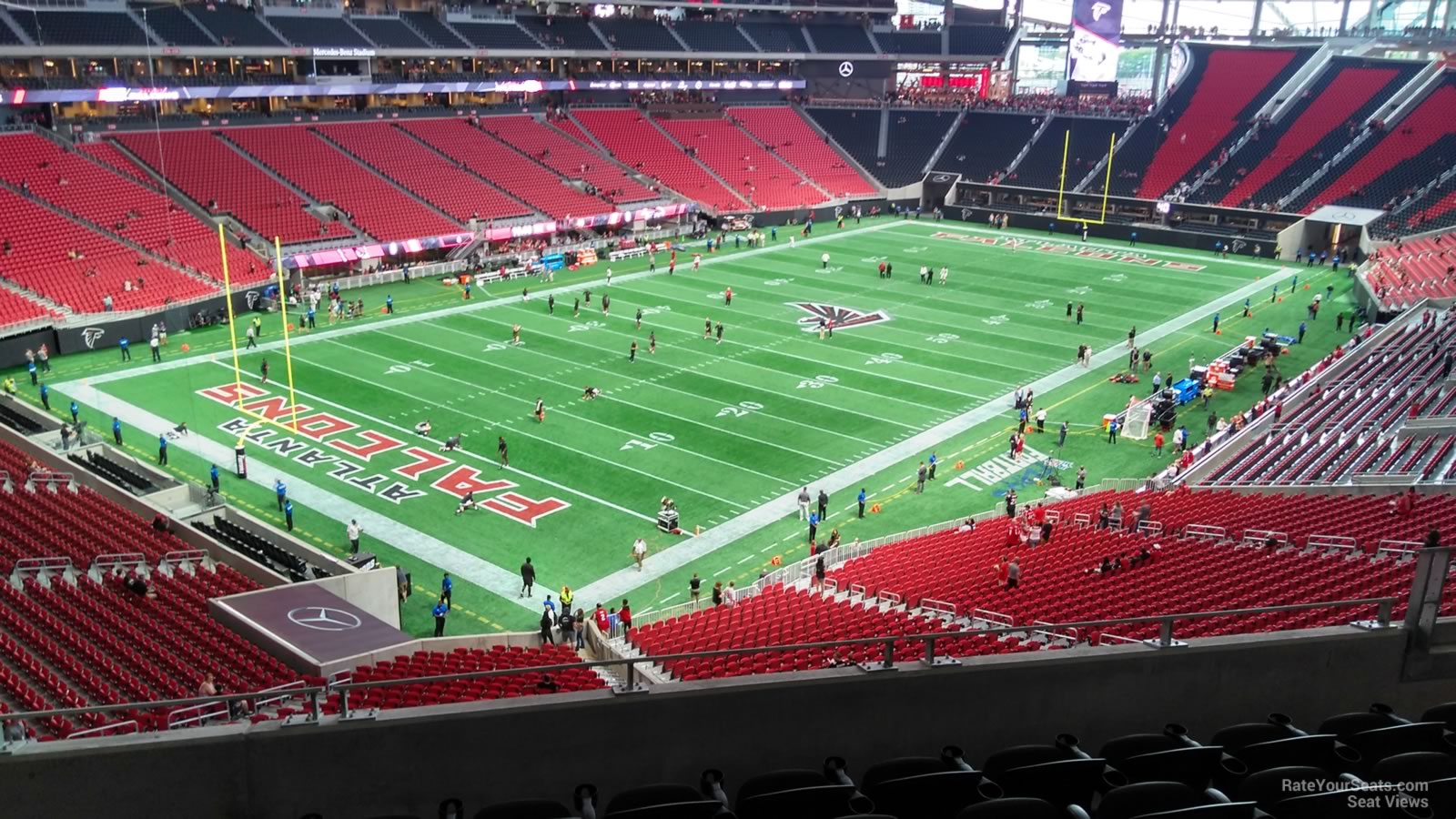 Mercedes benz stadium section 219 atlanta falcons for Mercedes benz stadium calendar