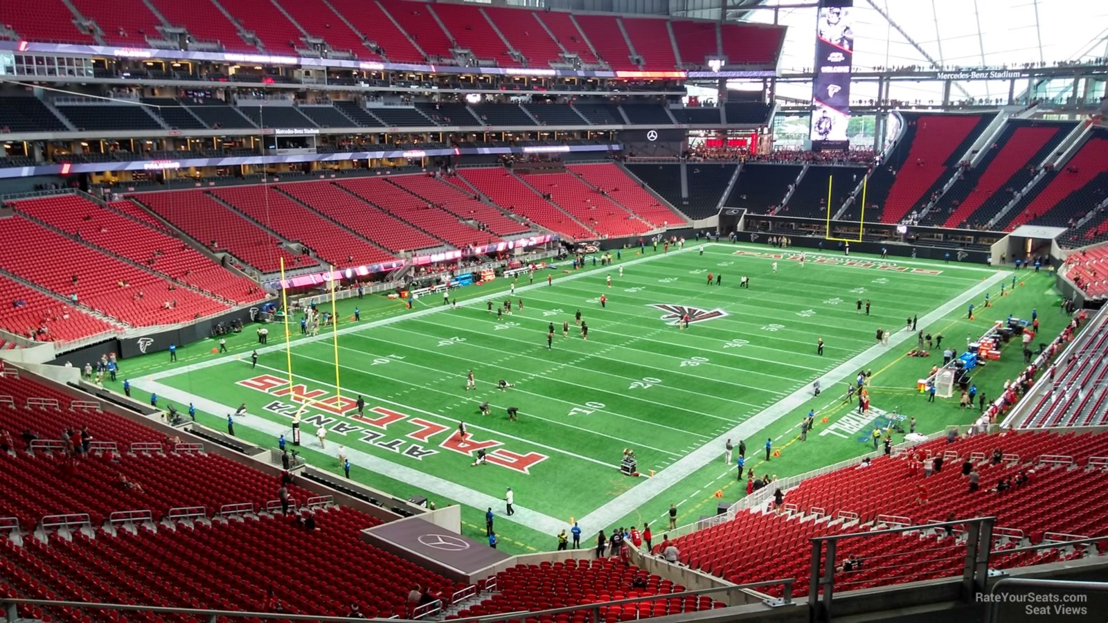 Mercedes benz stadium section 220 atlanta falcons for Mercedes benz stadium season tickets