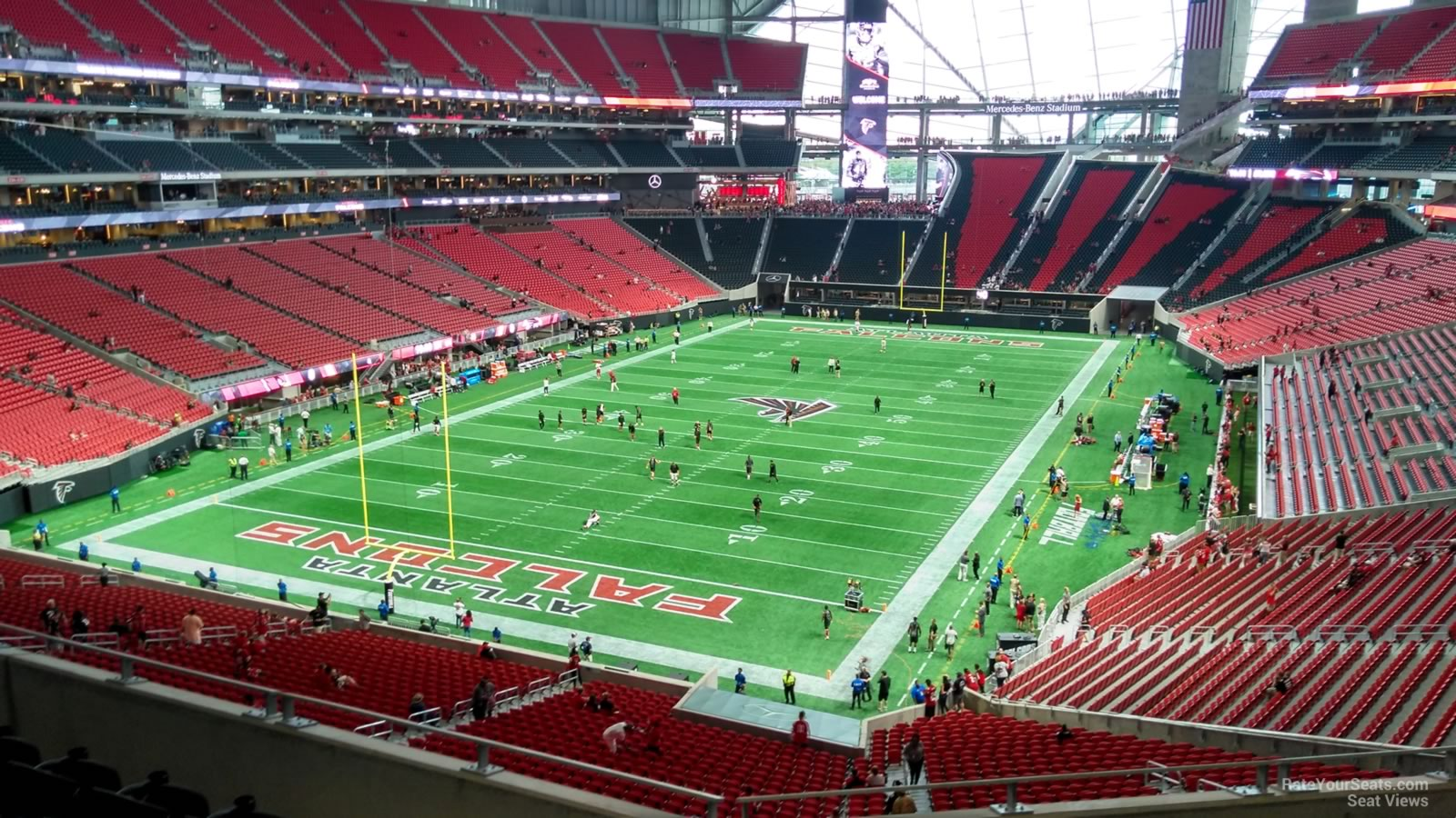 Mercedes benz stadium section 221 atlanta falcons for Mercedes benz stadium season tickets