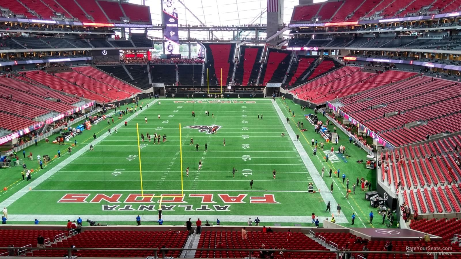 Atlanta Falcons Seat View For Mercedes Benz Stadium Section 223