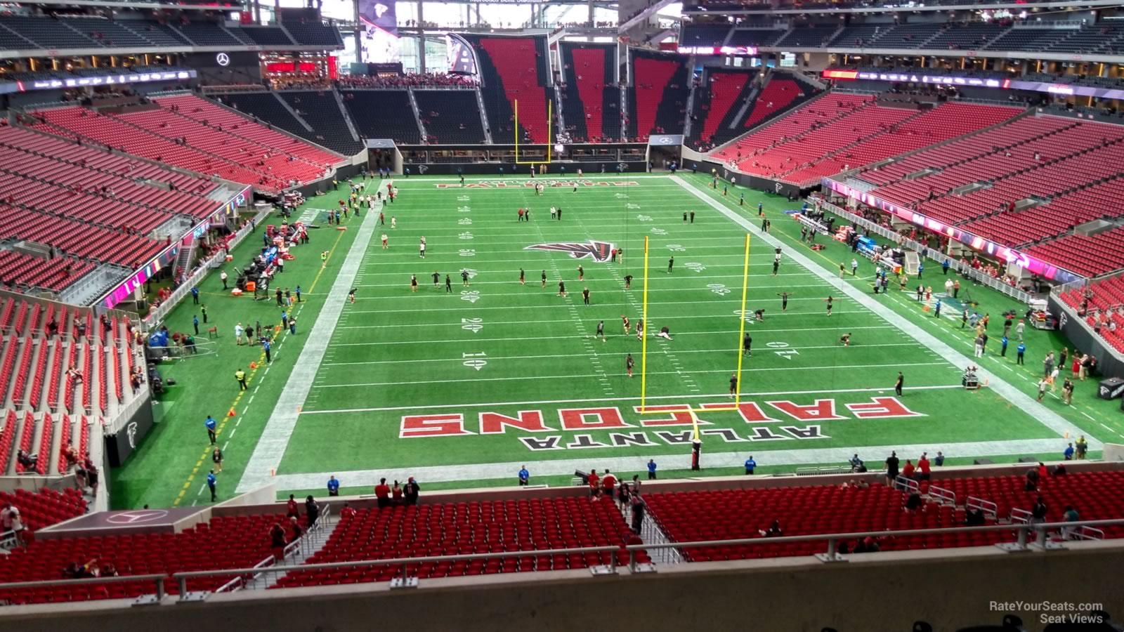 Mercedes benz stadium section 225 atlanta falcons for Mercedes benz stadium layout