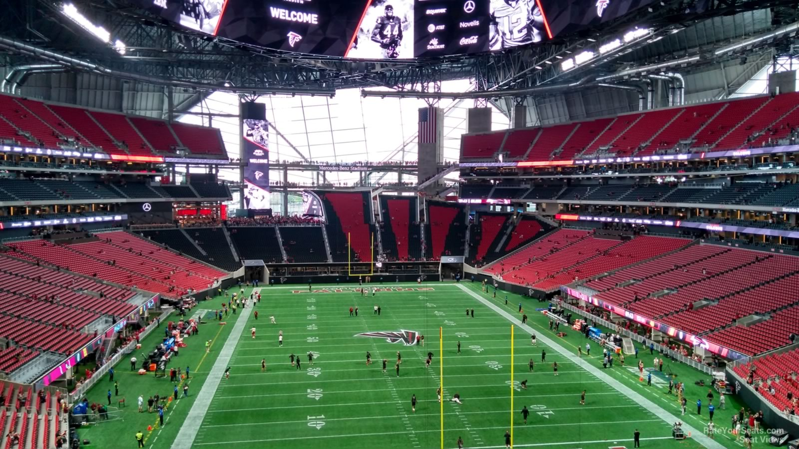 Mercedes benz stadium section 225 atlanta falcons for Mercedes benz stadium suite map