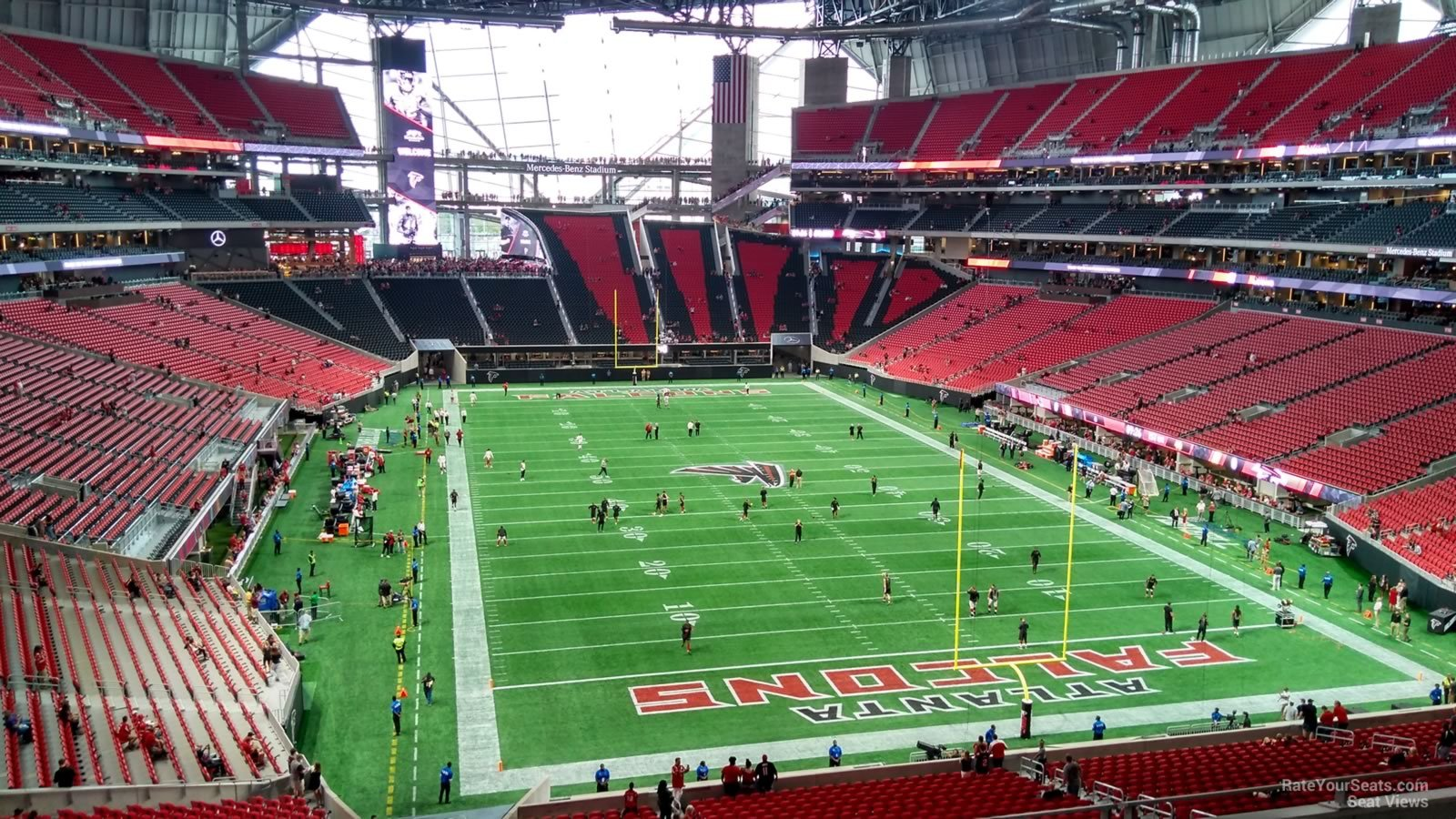 Mercedes benz stadium section 226 atlanta falcons for Mercedes benz superdome club level seating