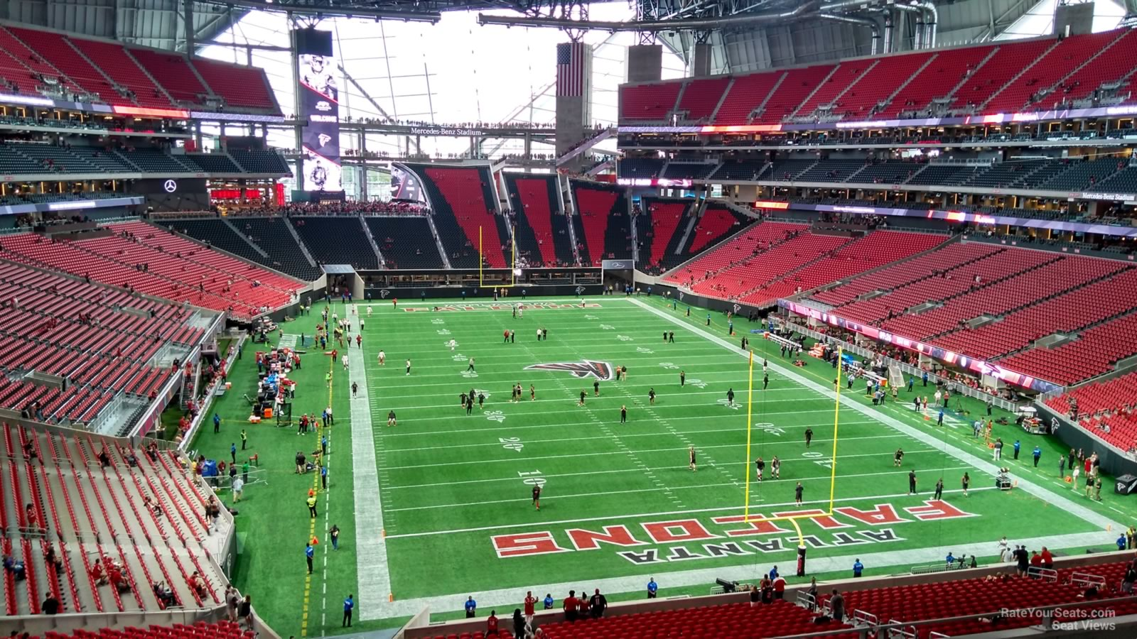 Atlanta Falcons Seat View For Mercedes Benz Stadium Section 226