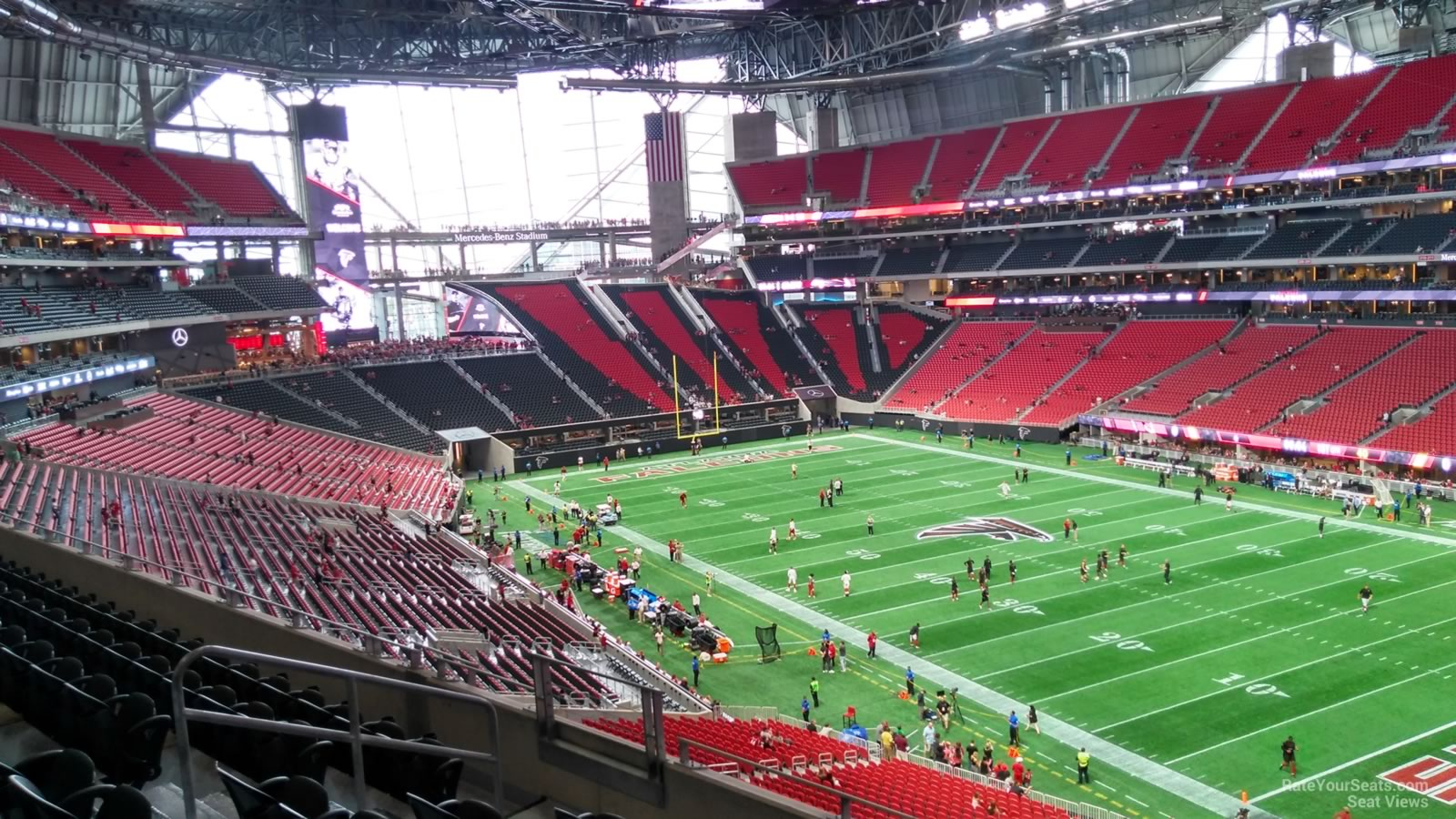 Mercedes benz stadium section 230 atlanta falcons for Mercedes benz seat view
