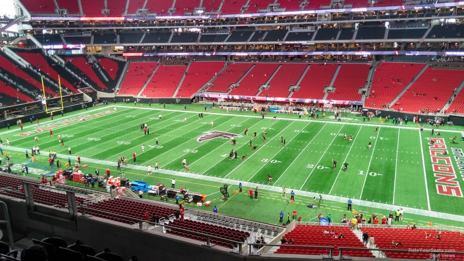 Mercedes benz stadium section 233 atlanta falcons for Mercedes benz seat view