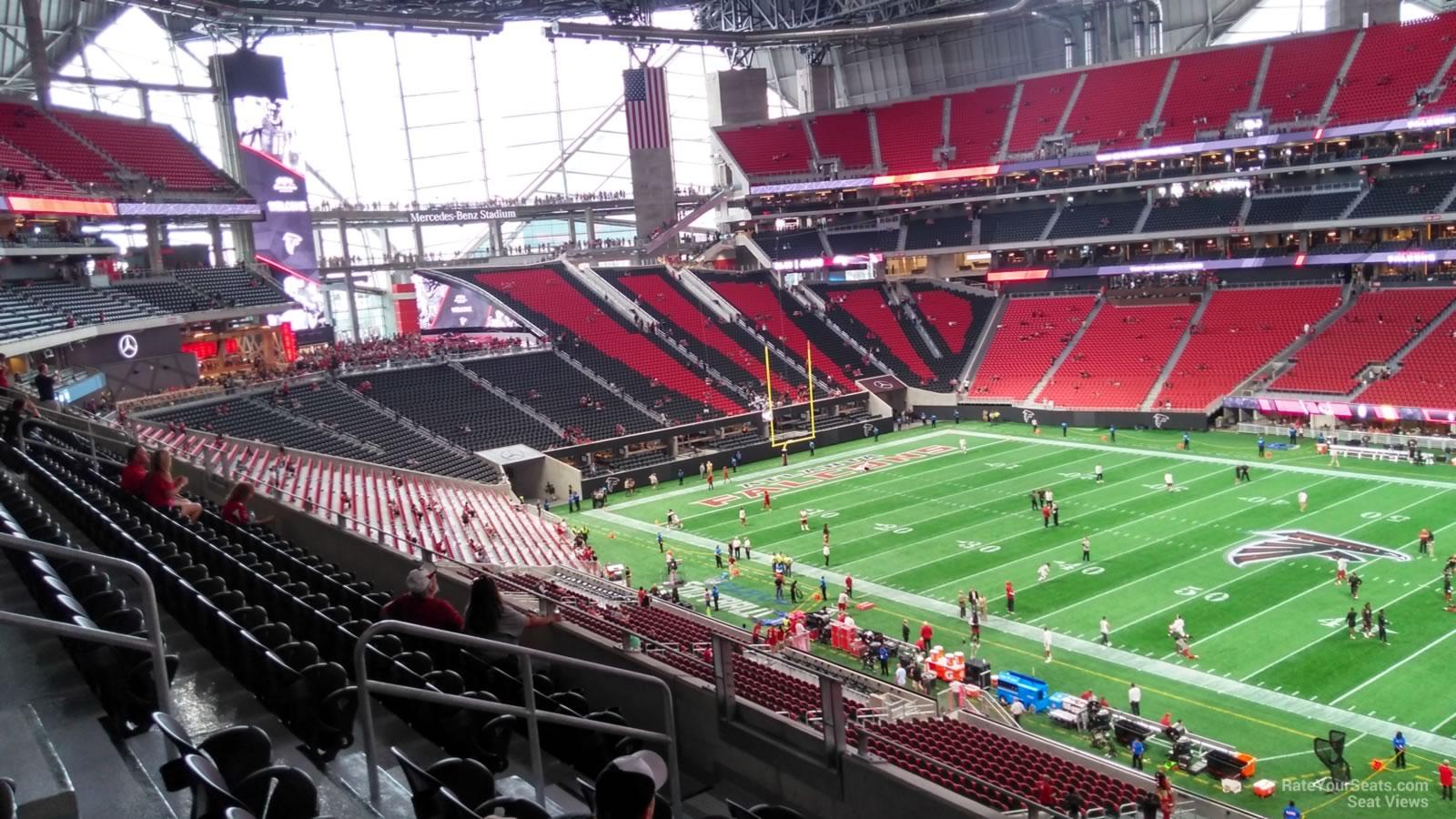 Mercedes benz stadium section 233 atlanta falcons for Mercedes benz stadium seat view