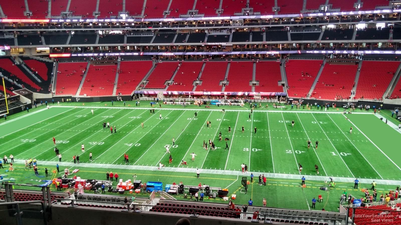 Section 235 at Mercedes-Benz Stadium - Atlanta Falcons ...