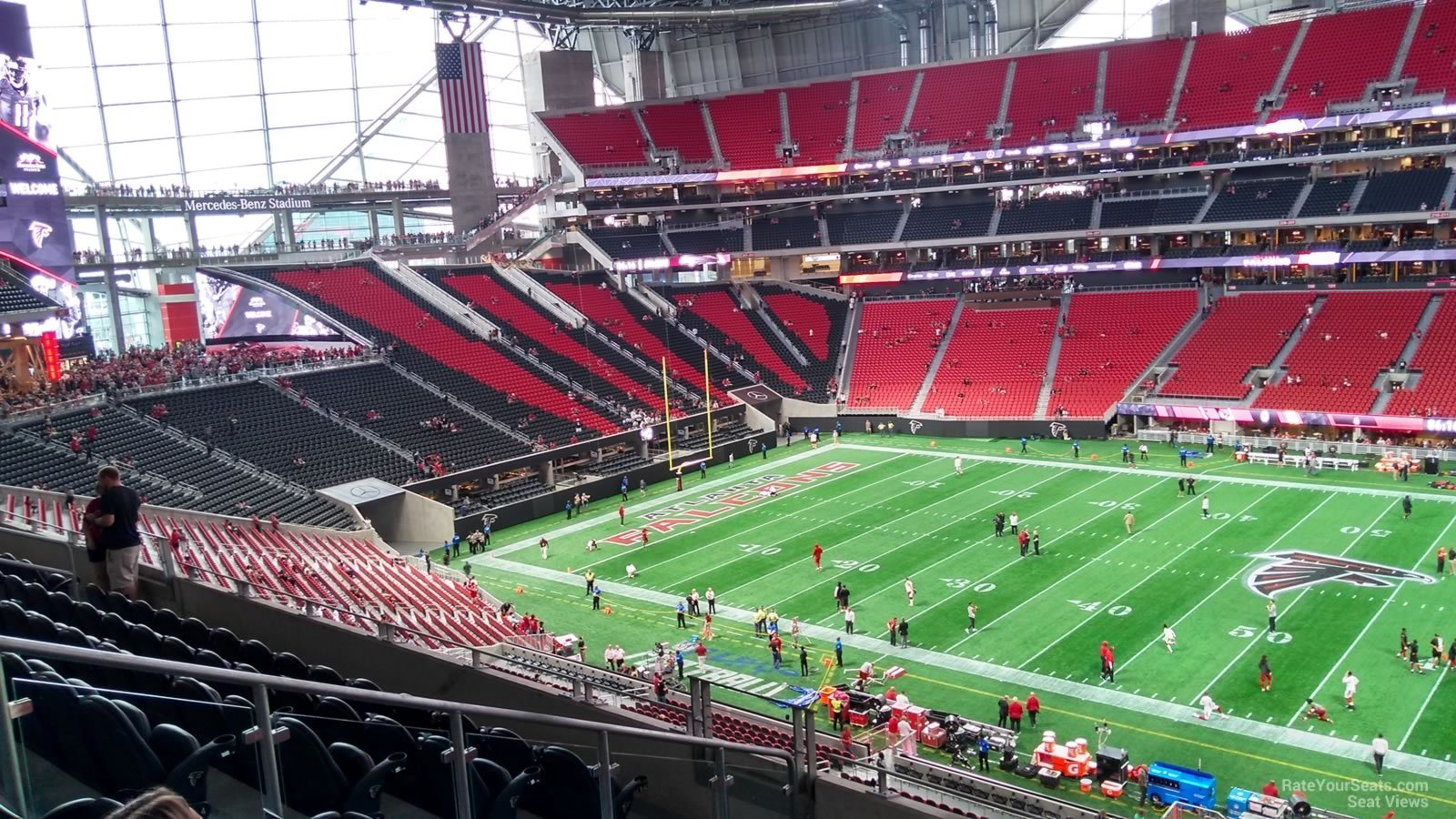 View from my seat georgia dome for Address of mercedes benz stadium