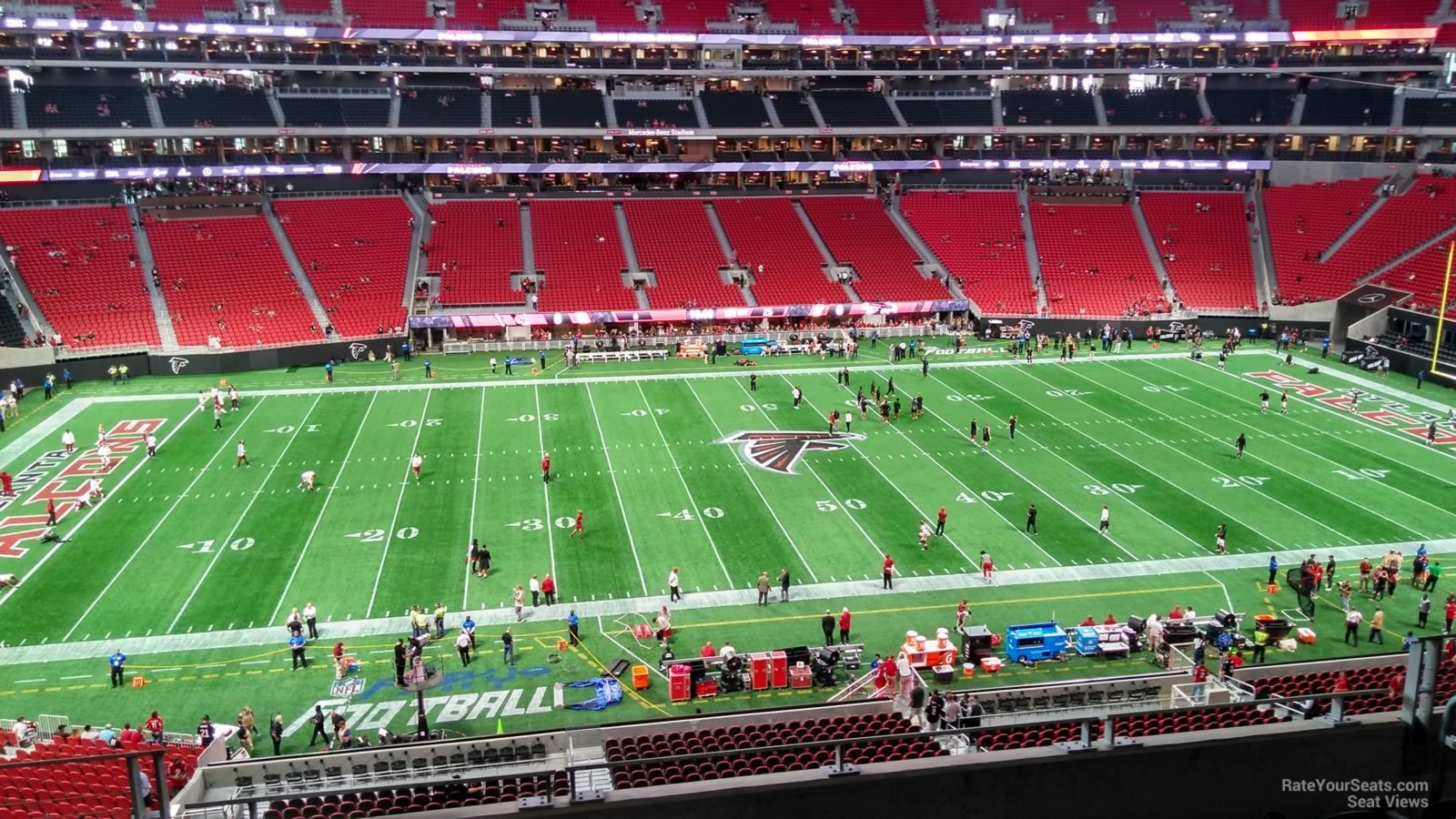 Mercedes benz stadium section 239 atlanta falcons for Mercedes benz seat view
