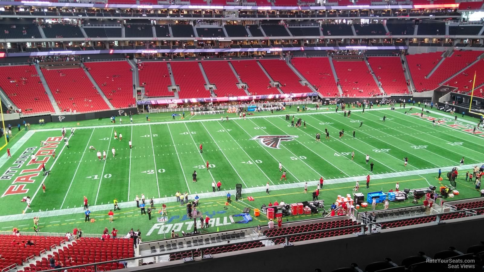 Atlanta Falcons Seat View for Mercedes-Benz Stadium Section 240, Row 6