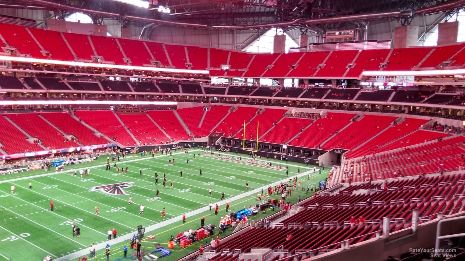 Mercedes Benz Stadium Section 242 Atlanta Falcons
