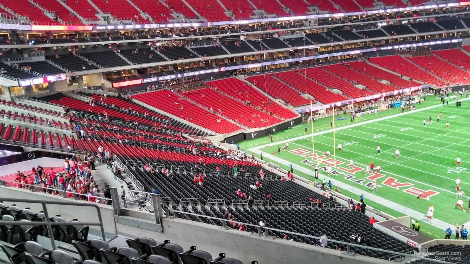 Mercedes benz stadium section 246 atlanta falcons for Mercedes benz stadium seat view