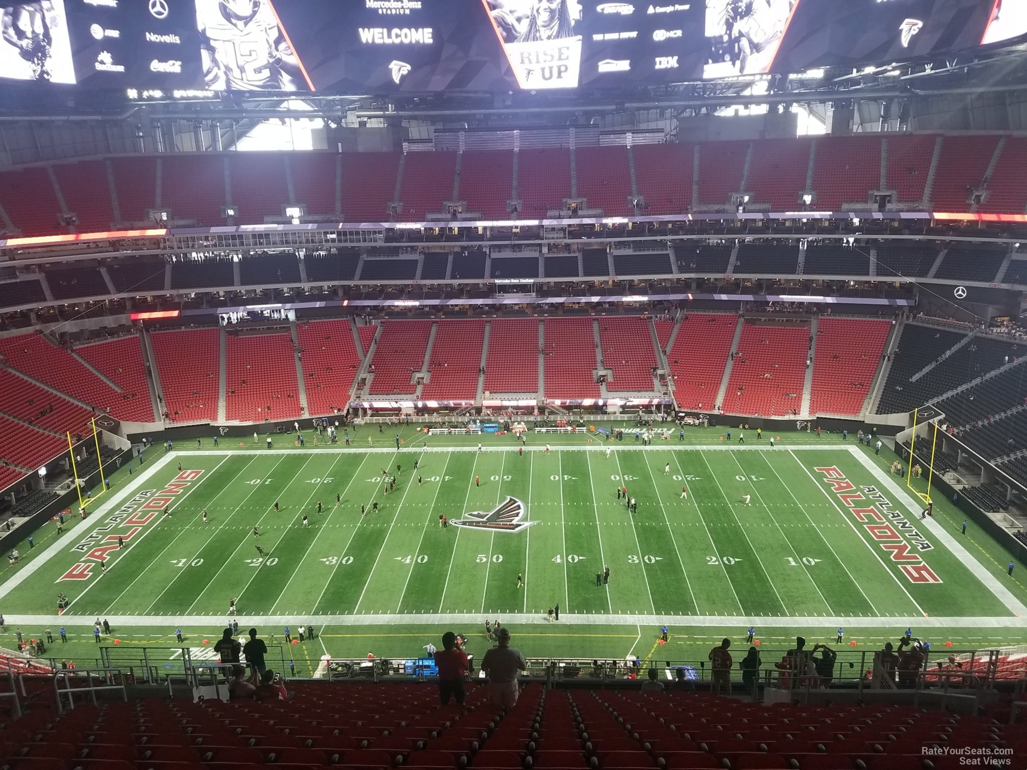 Football seating diagram mercedes benz mercedes auto for Mercedes benz stadium suite prices