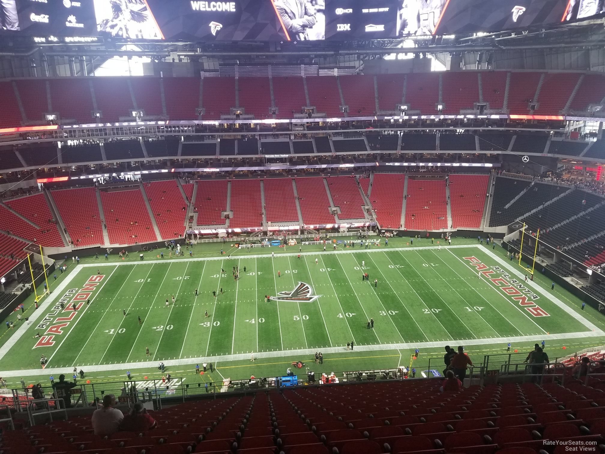 Mercedes Benz Stadium Section 312 Row 21 on 8 26 2017