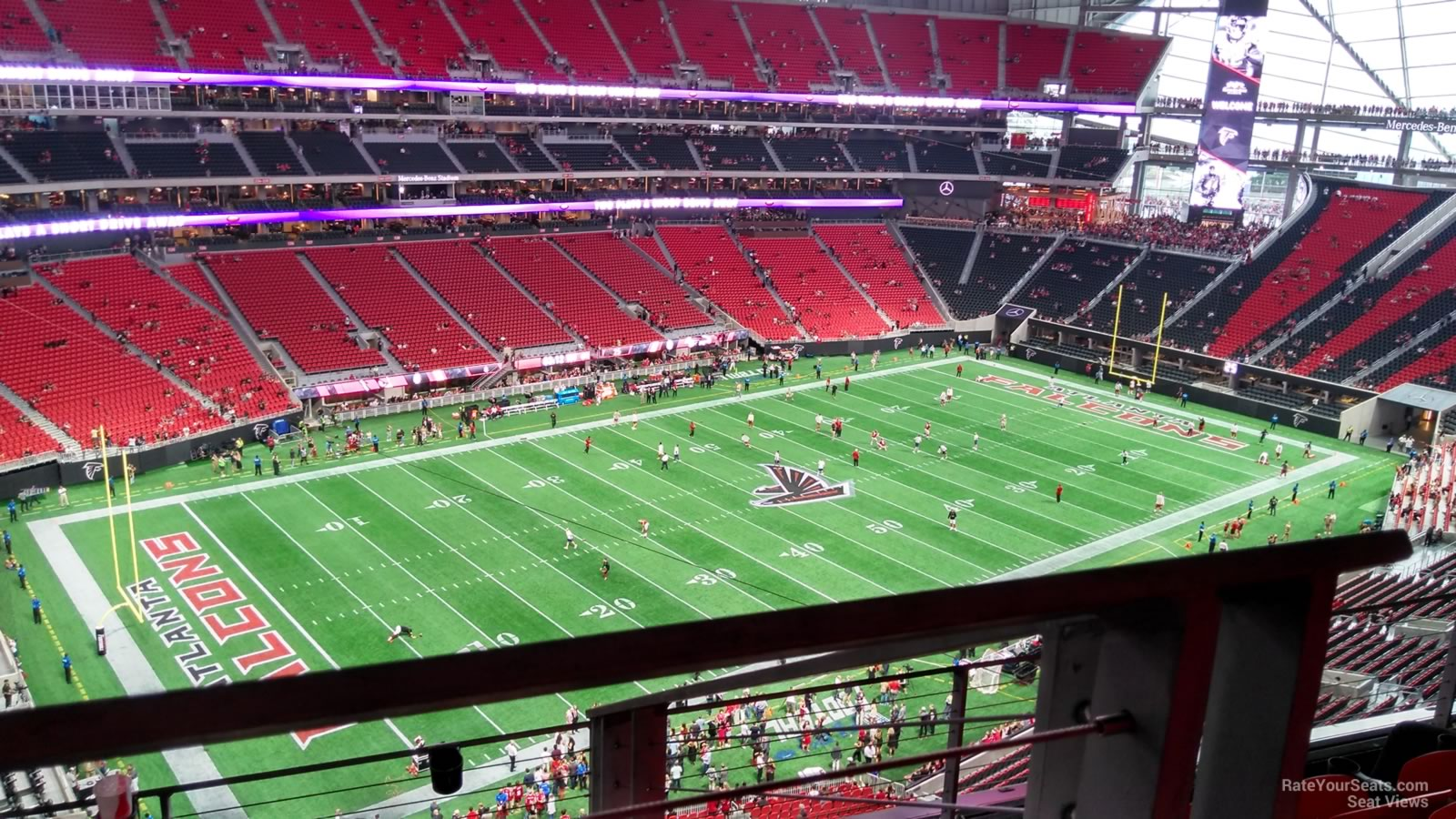 Mercedes benz stadium section 317 atlanta falcons for Mercedes benz stadium seat view
