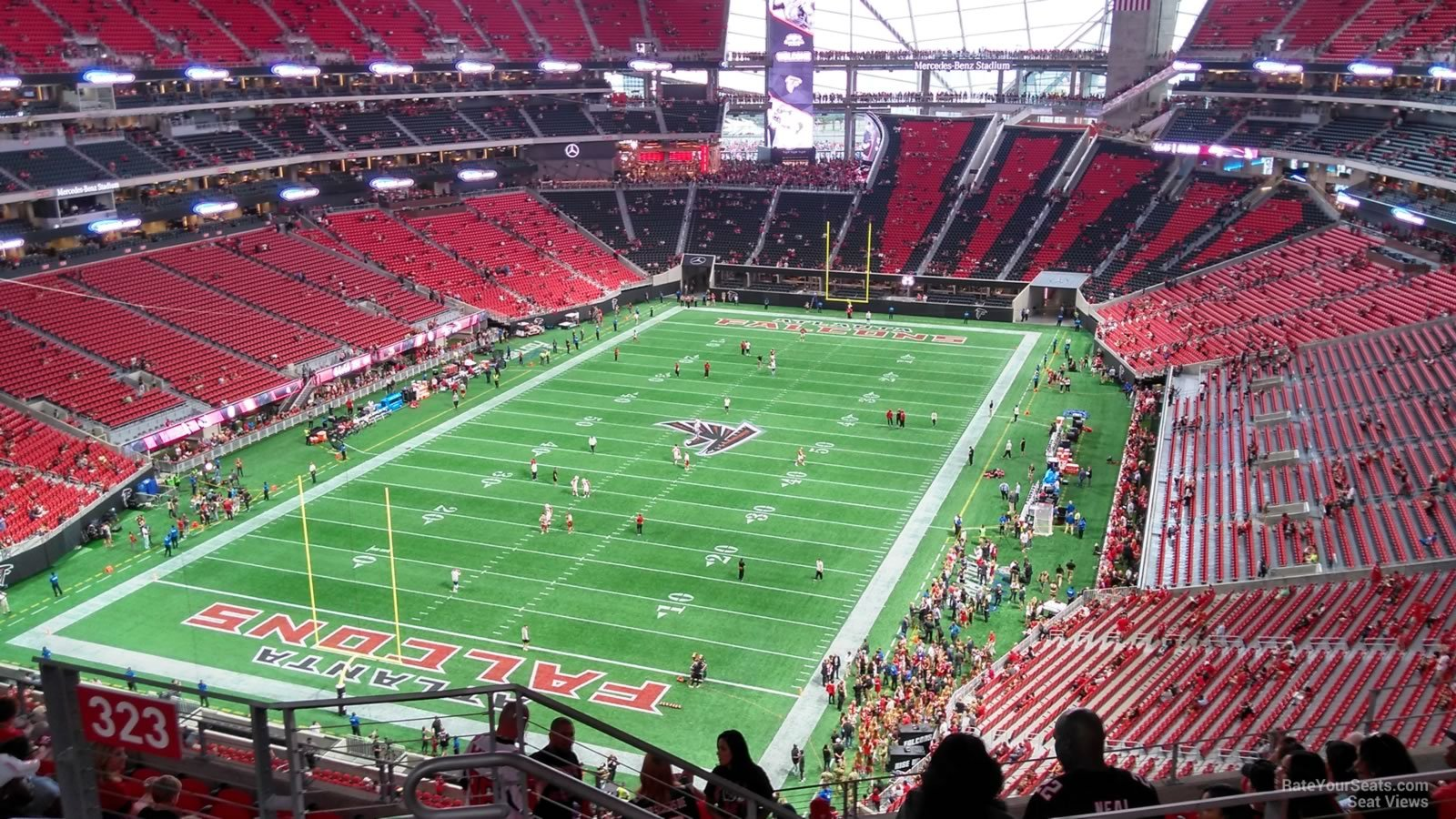 Atlanta Falcons Seat View for Mercedes-Benz Stadium Section 322, Row 12