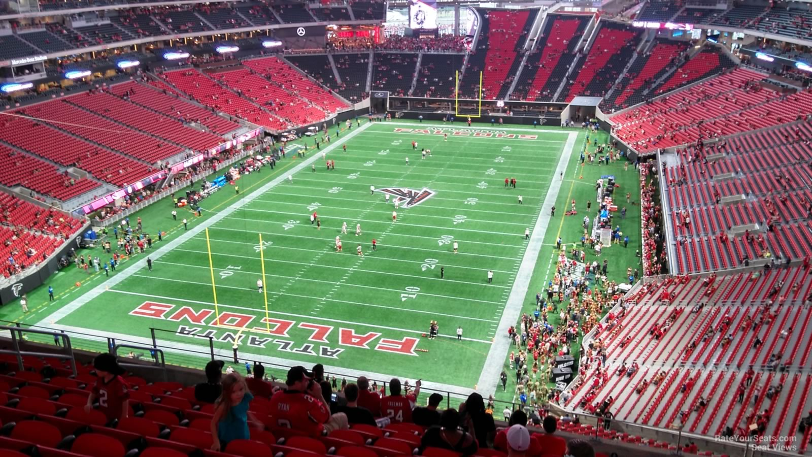 Atlanta Falcons Seat View for Mercedes-Benz Stadium Section 323, Row 12