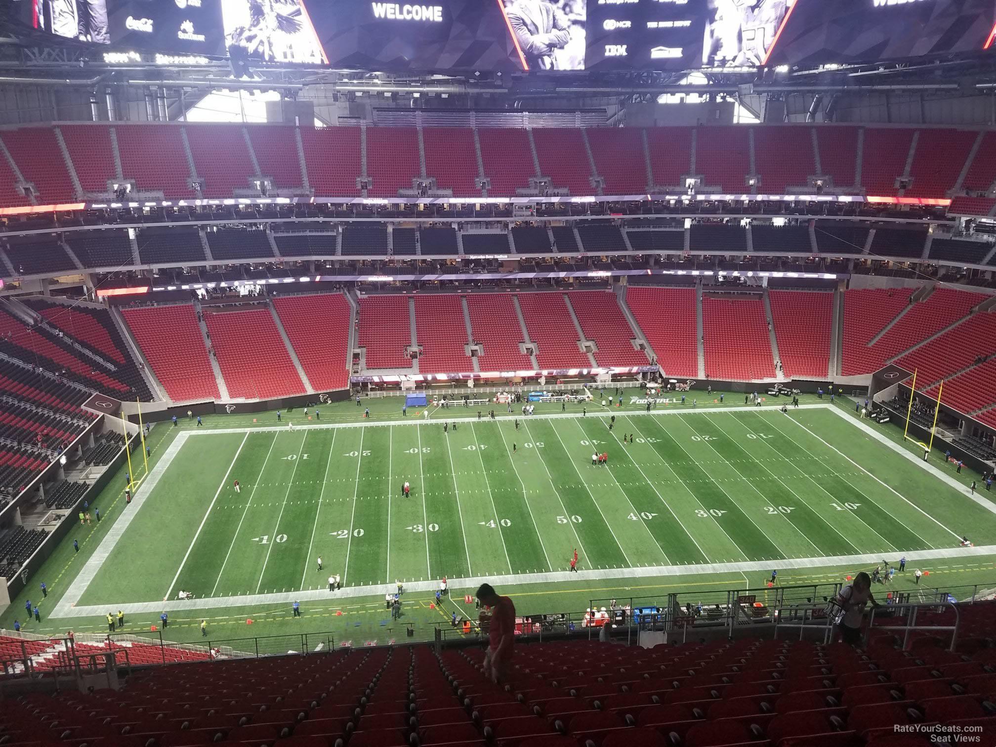 Mercedes benz stadium section 341 atlanta falcons for Mercedes benz stadium seat view