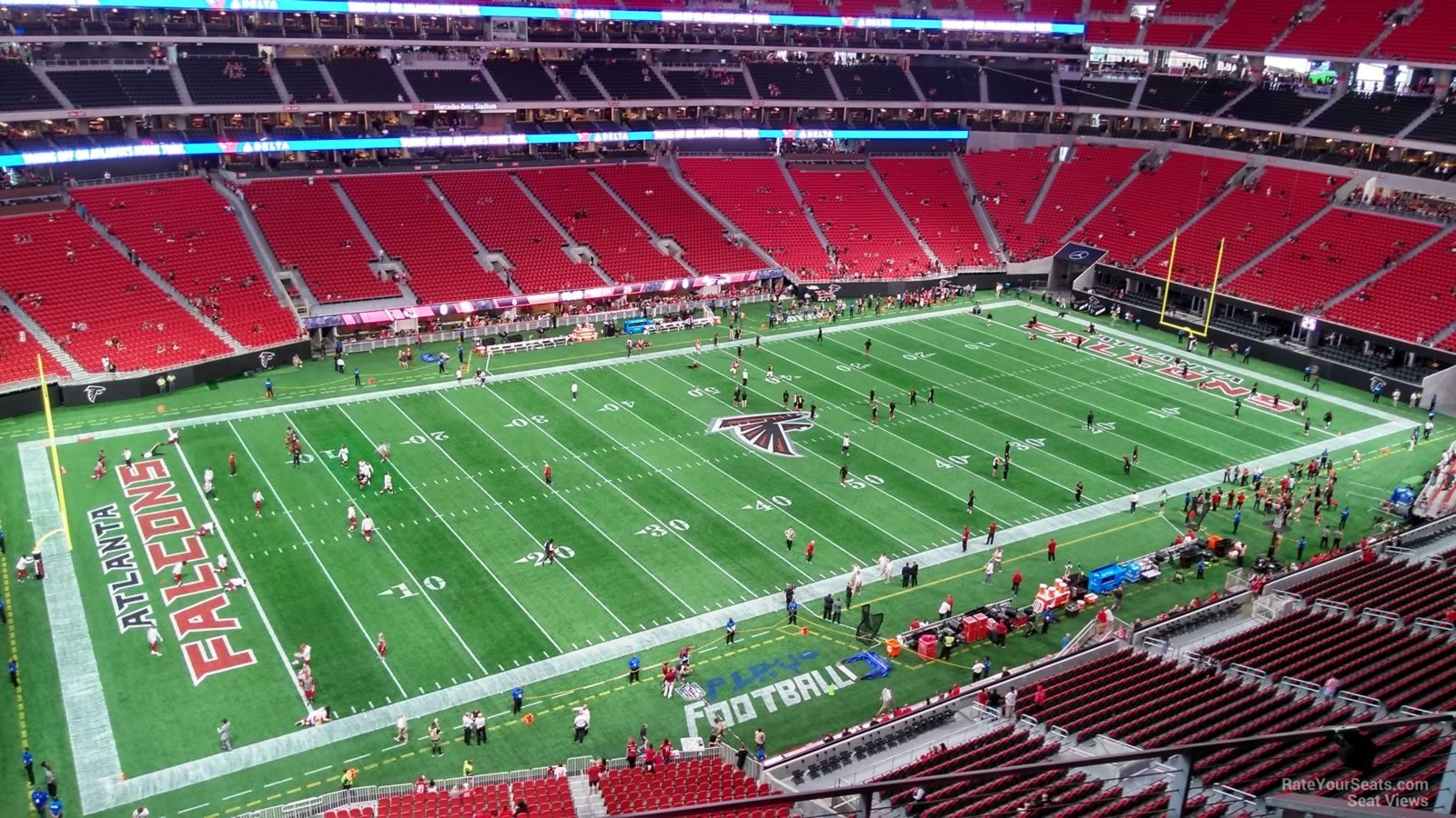 Atlanta Falcons Seat View for Mercedes-Benz Stadium Section 344, Row 4