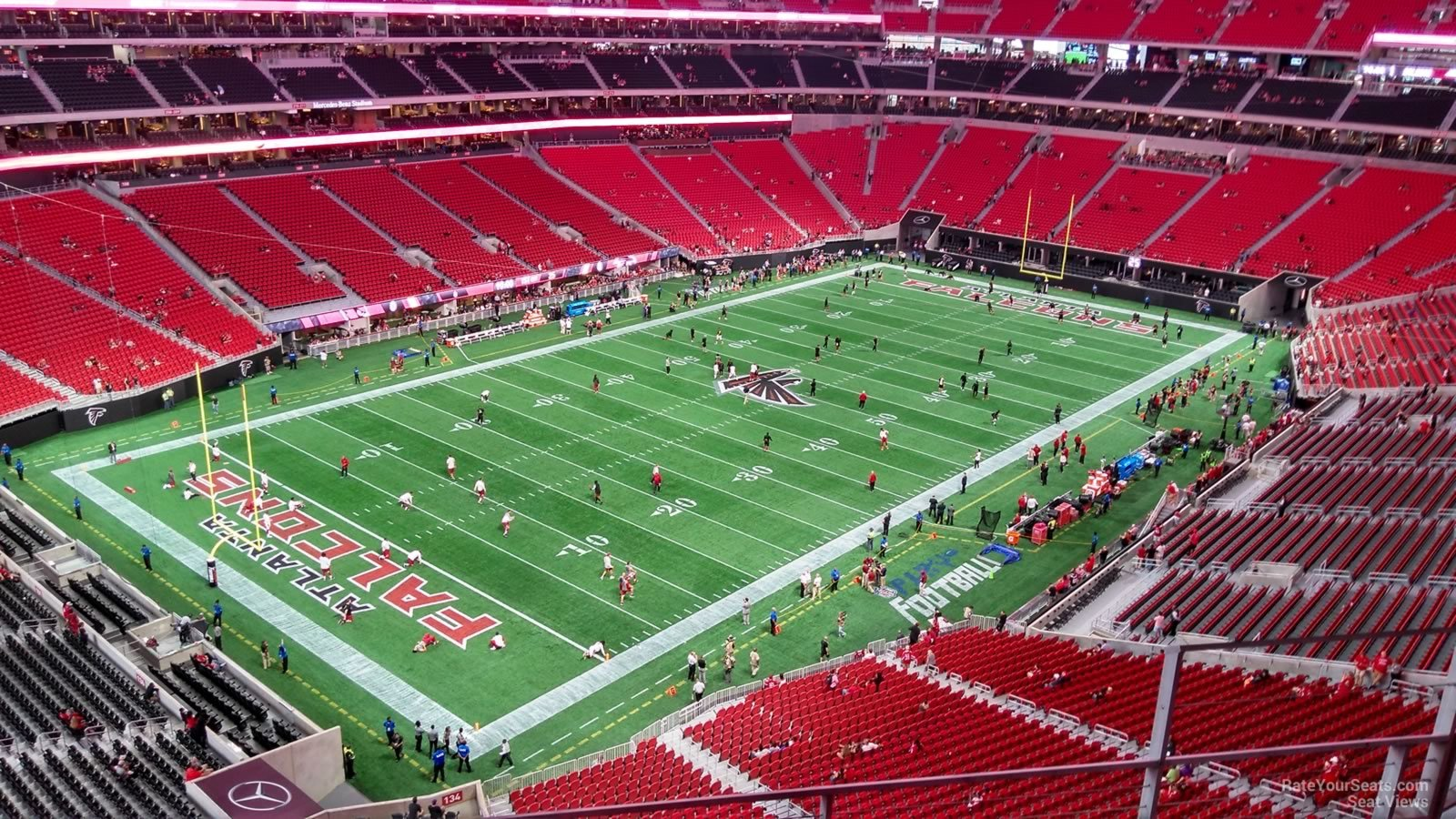 Atlanta Falcons Seat View for Mercedes-Benz Stadium Section 347, Row 4