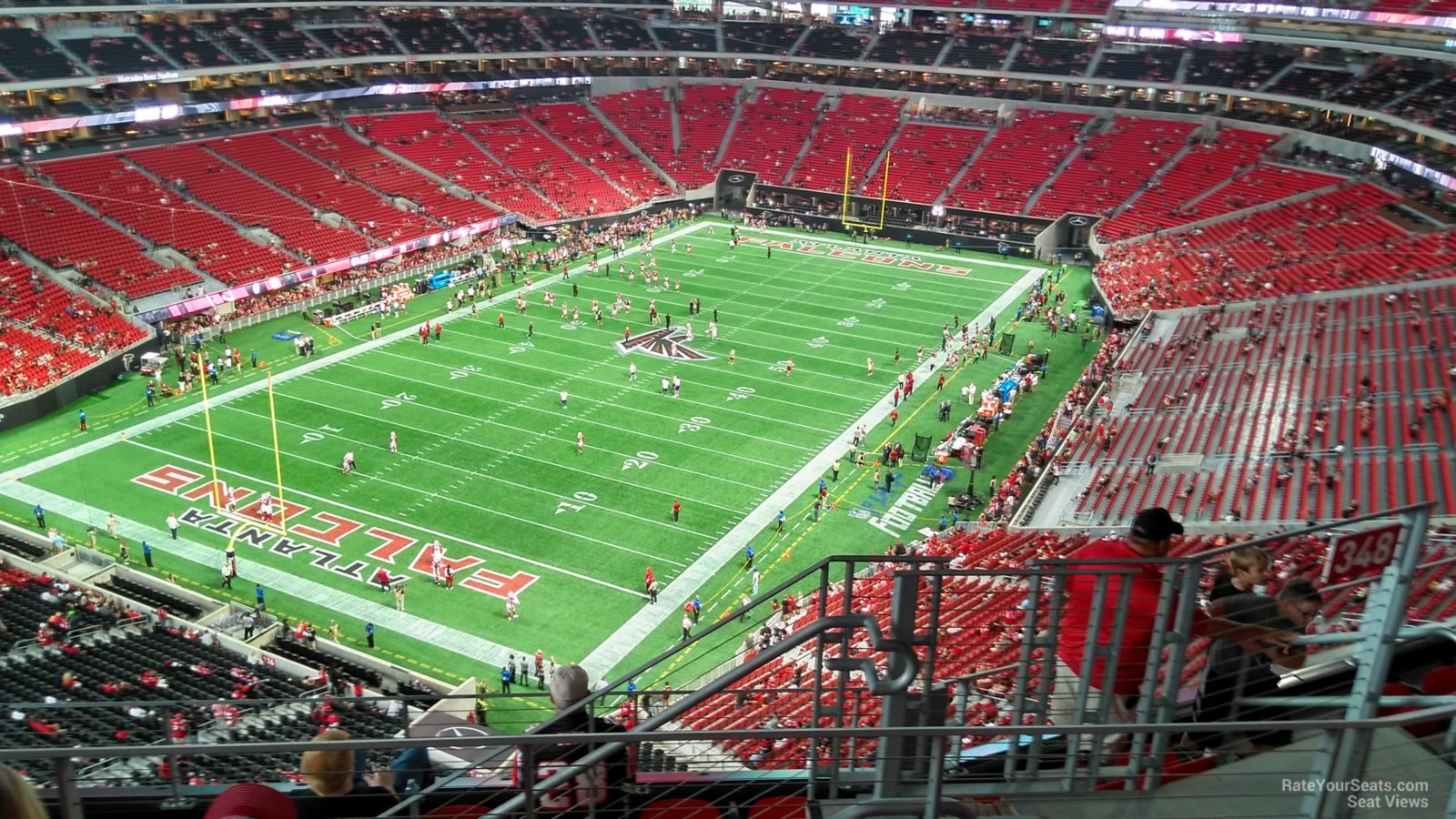 Atlanta Falcons Seat View for Mercedes-Benz Stadium Section 349, Row 7