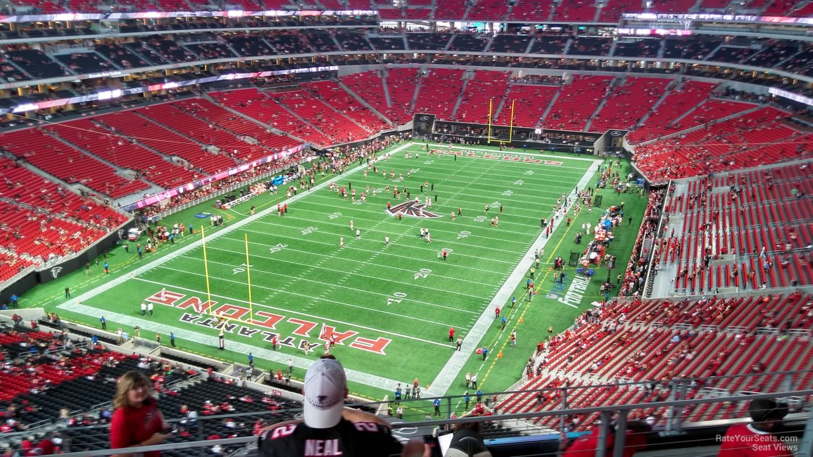 Atlanta Falcons Seat View for Mercedes-Benz Stadium Section 350, Row 7