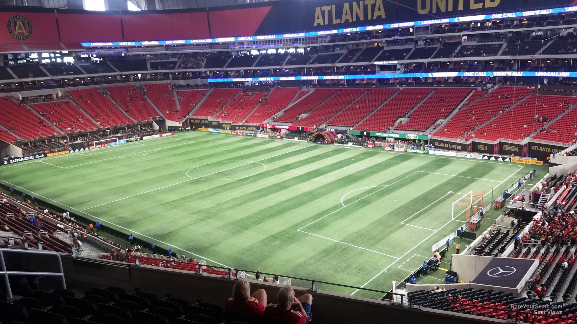 Soccer Seat View for Mercedes-Benz Stadium Section 204, Row 9